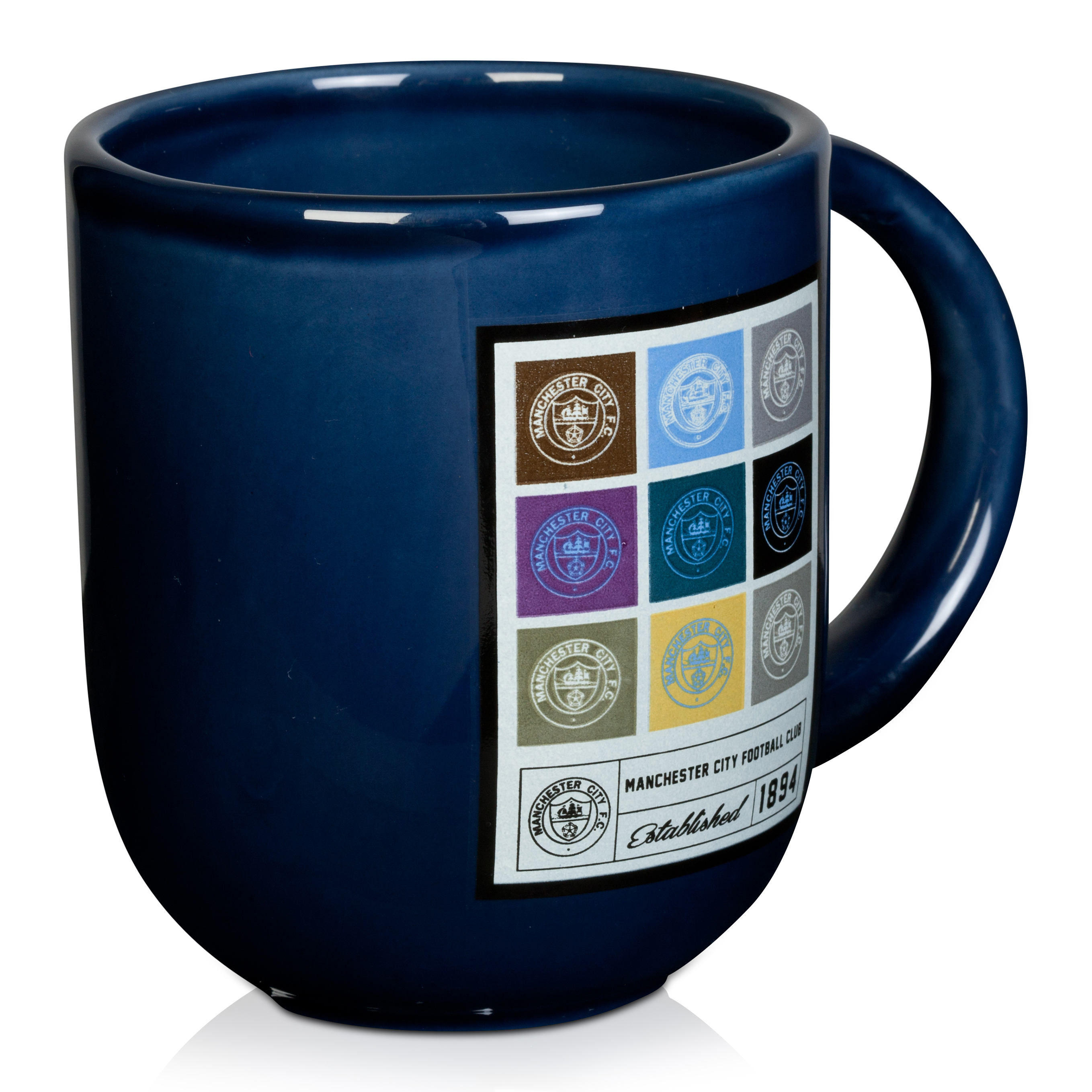 Manchester City Retro Mug in Gift Box