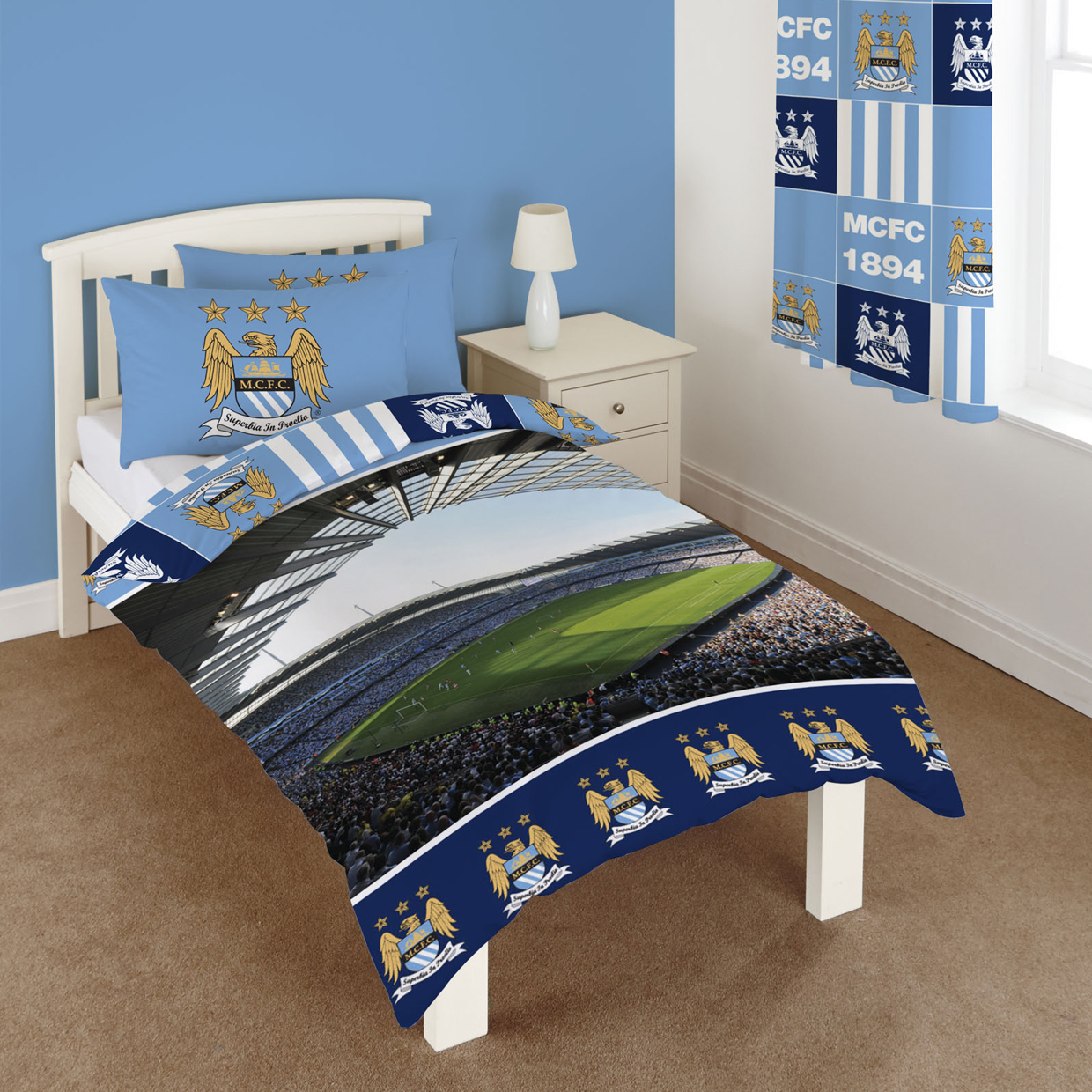 Manchester City Stadium Panel Single Duvet