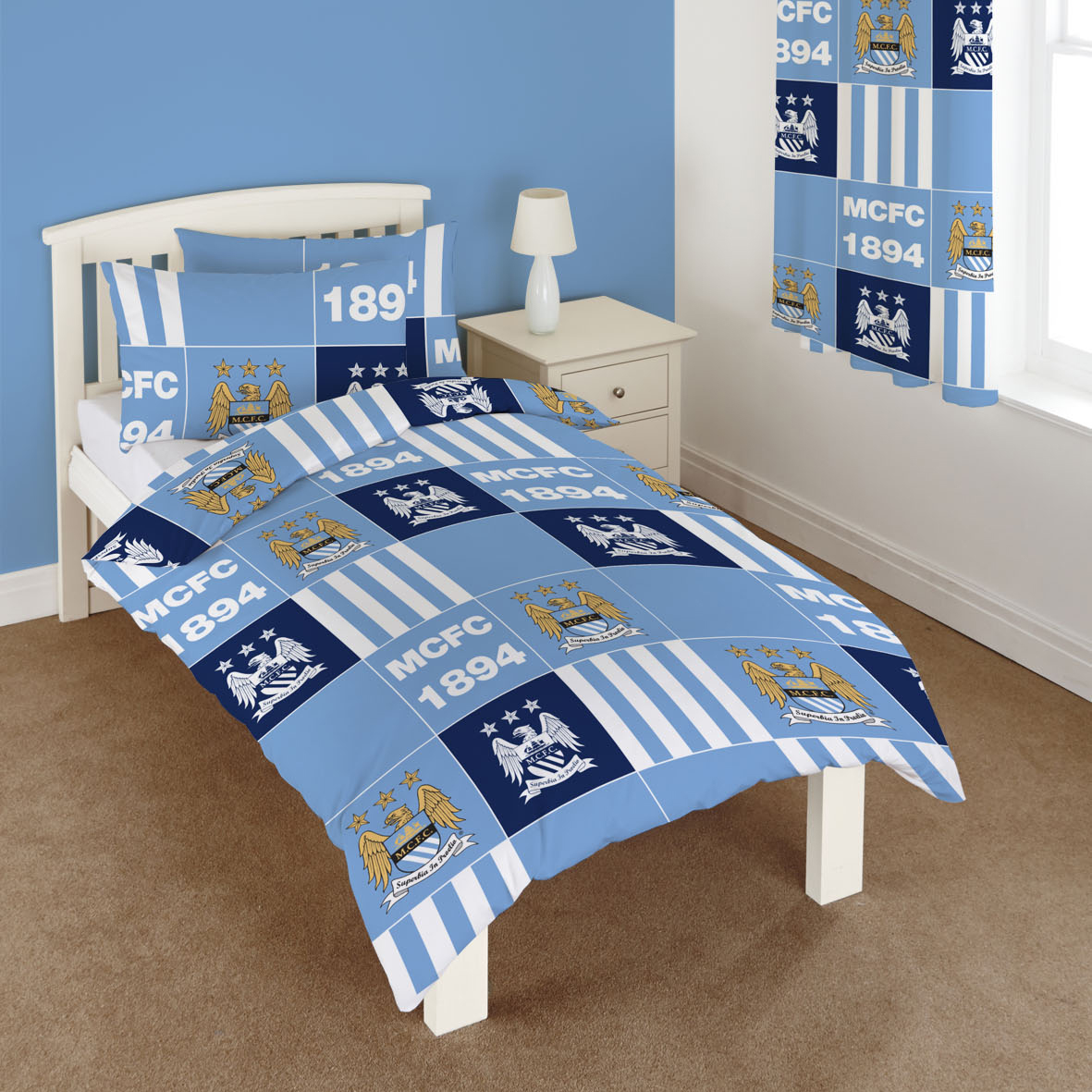 Manchester City Patchwork Duvet Single