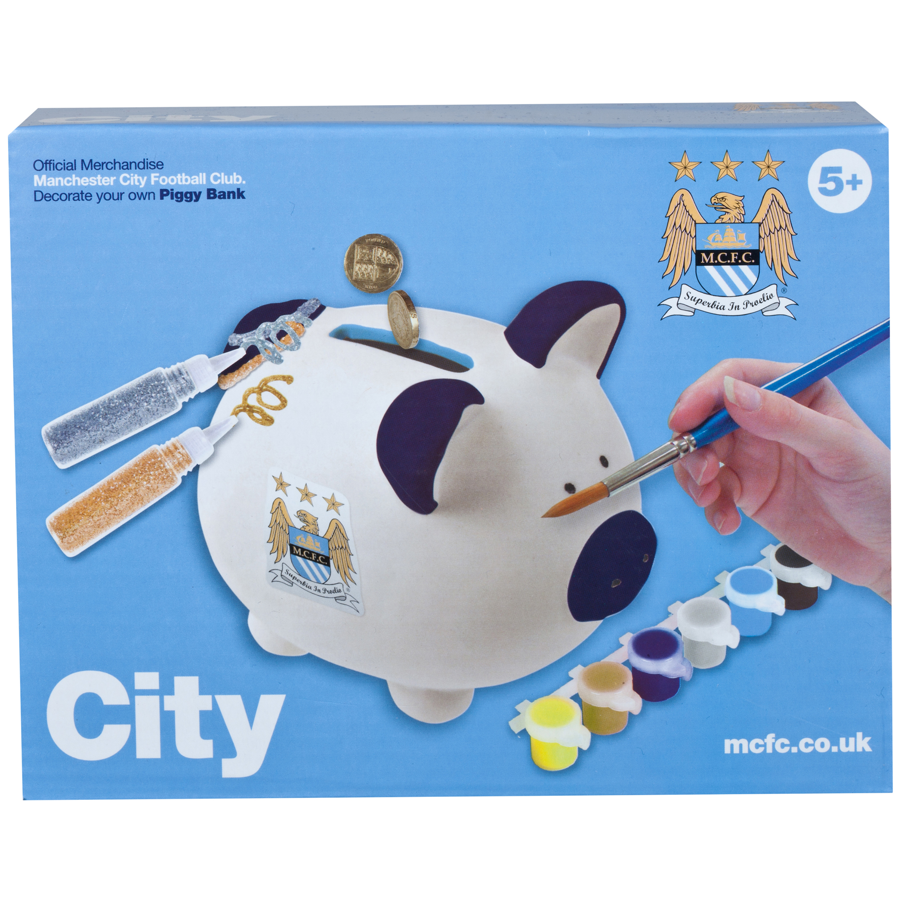 Manchester City Paint your own pig moneybox
