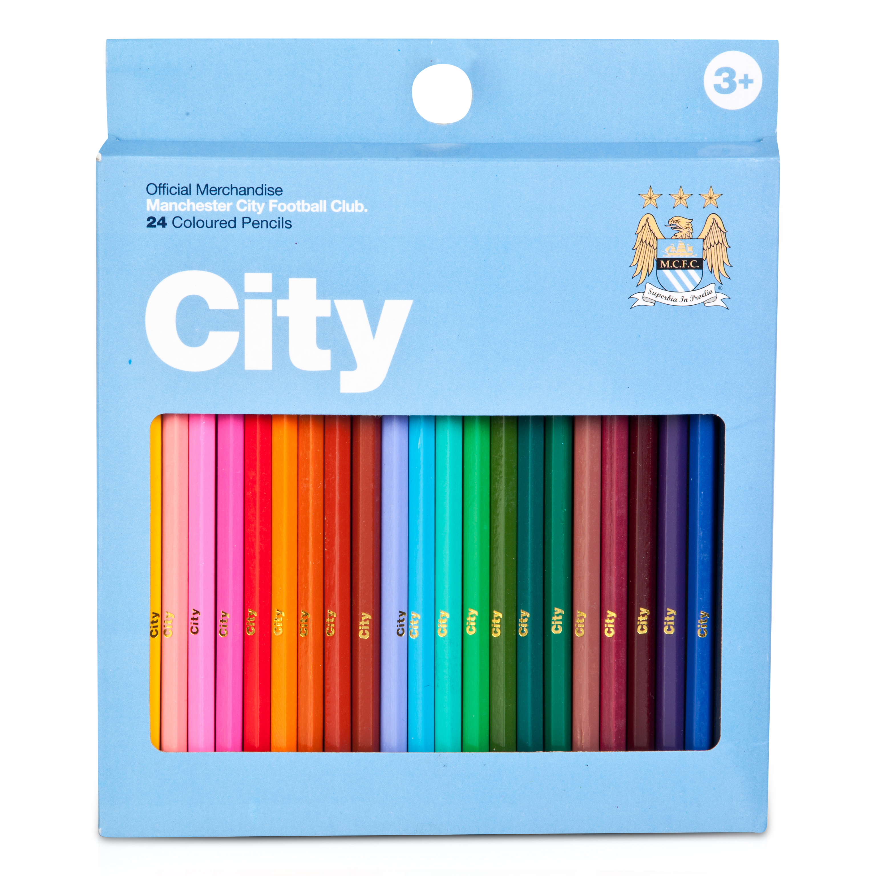 Manchester City 24 pc colouring set