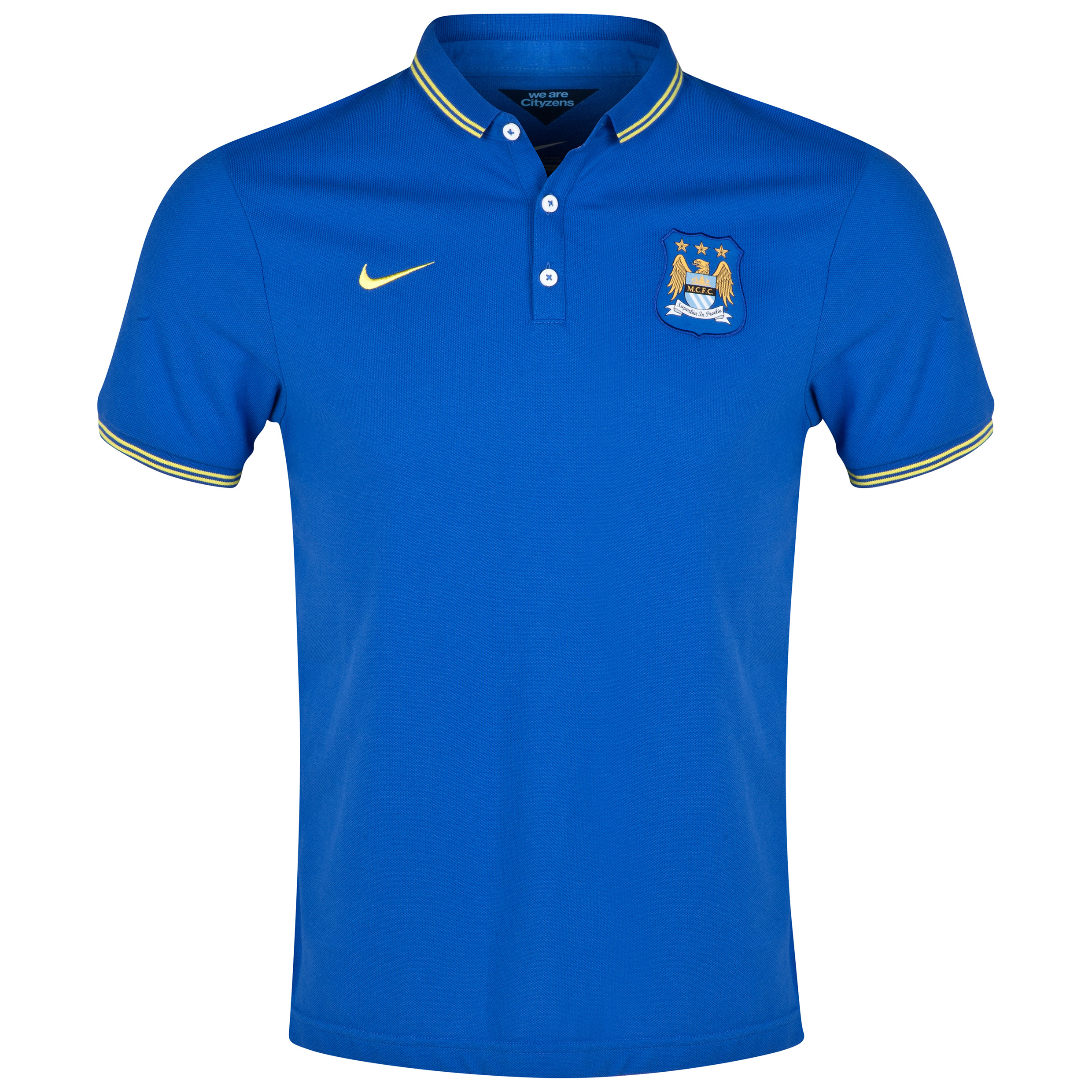 Manchester City League Authentic Polo Royal Blue