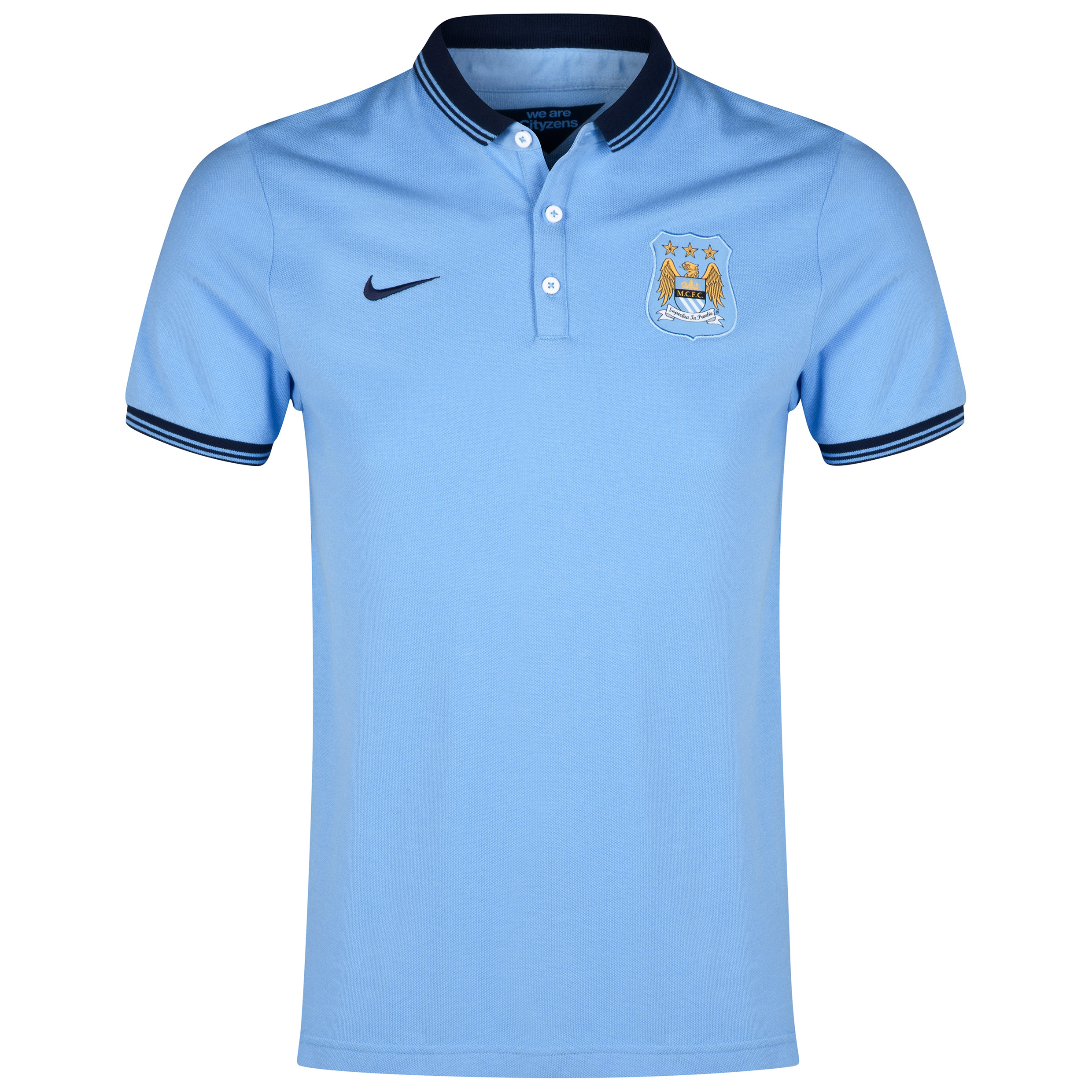 Manchester City League Authentic Polo Blue