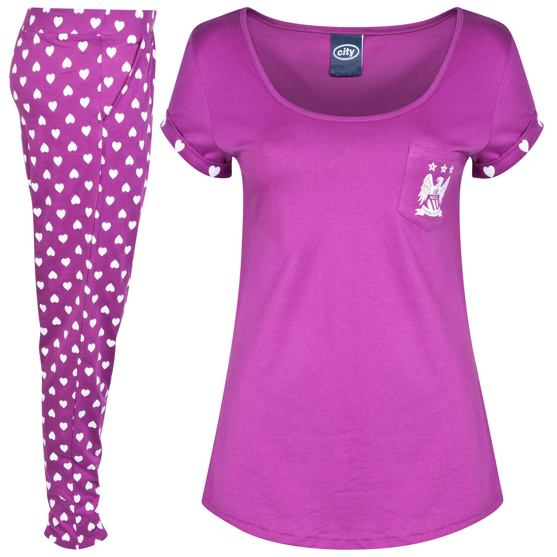 Manchester City Pyjamas - Magenta Pink - Womens