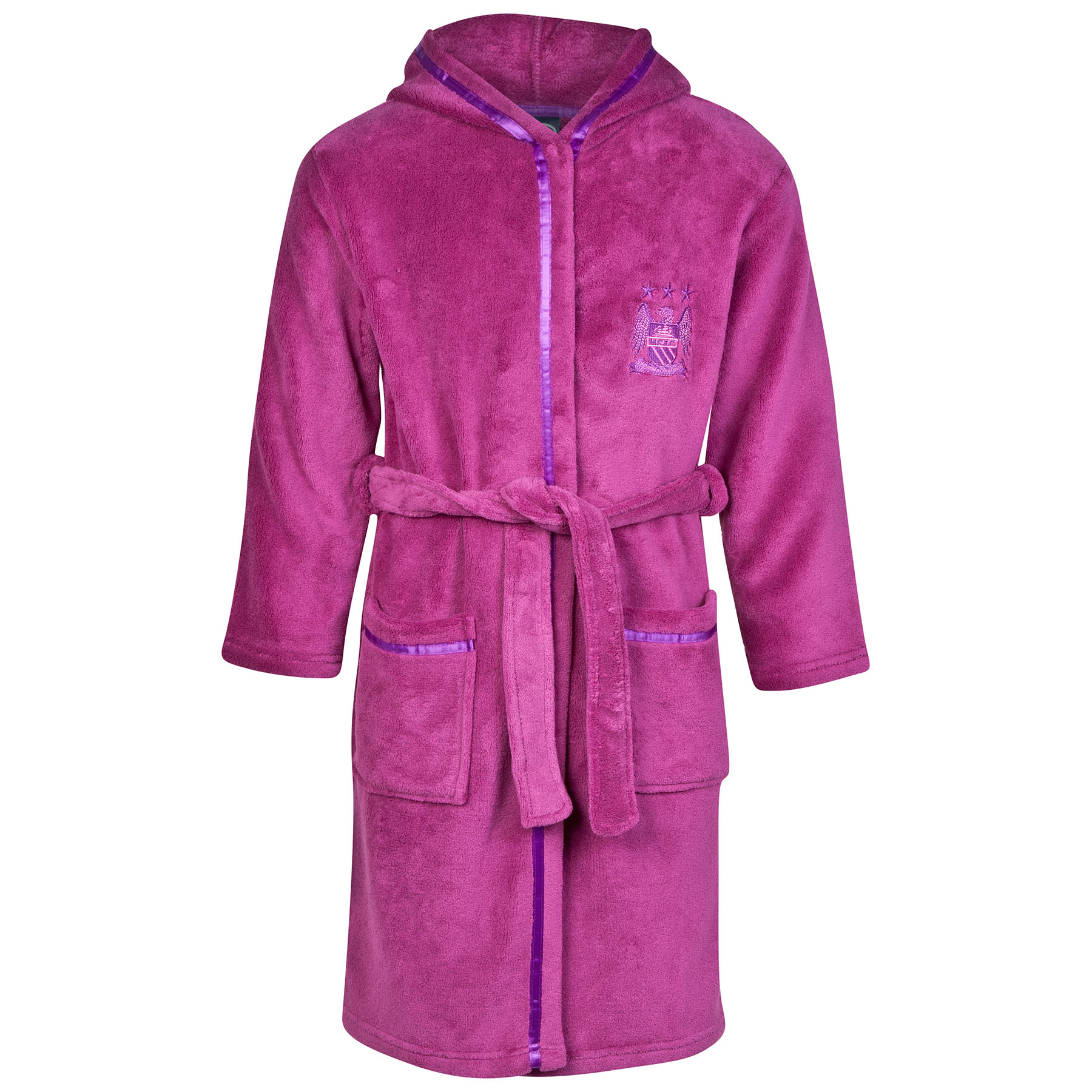 Manchester City Robe - Magenta Pink - Girls