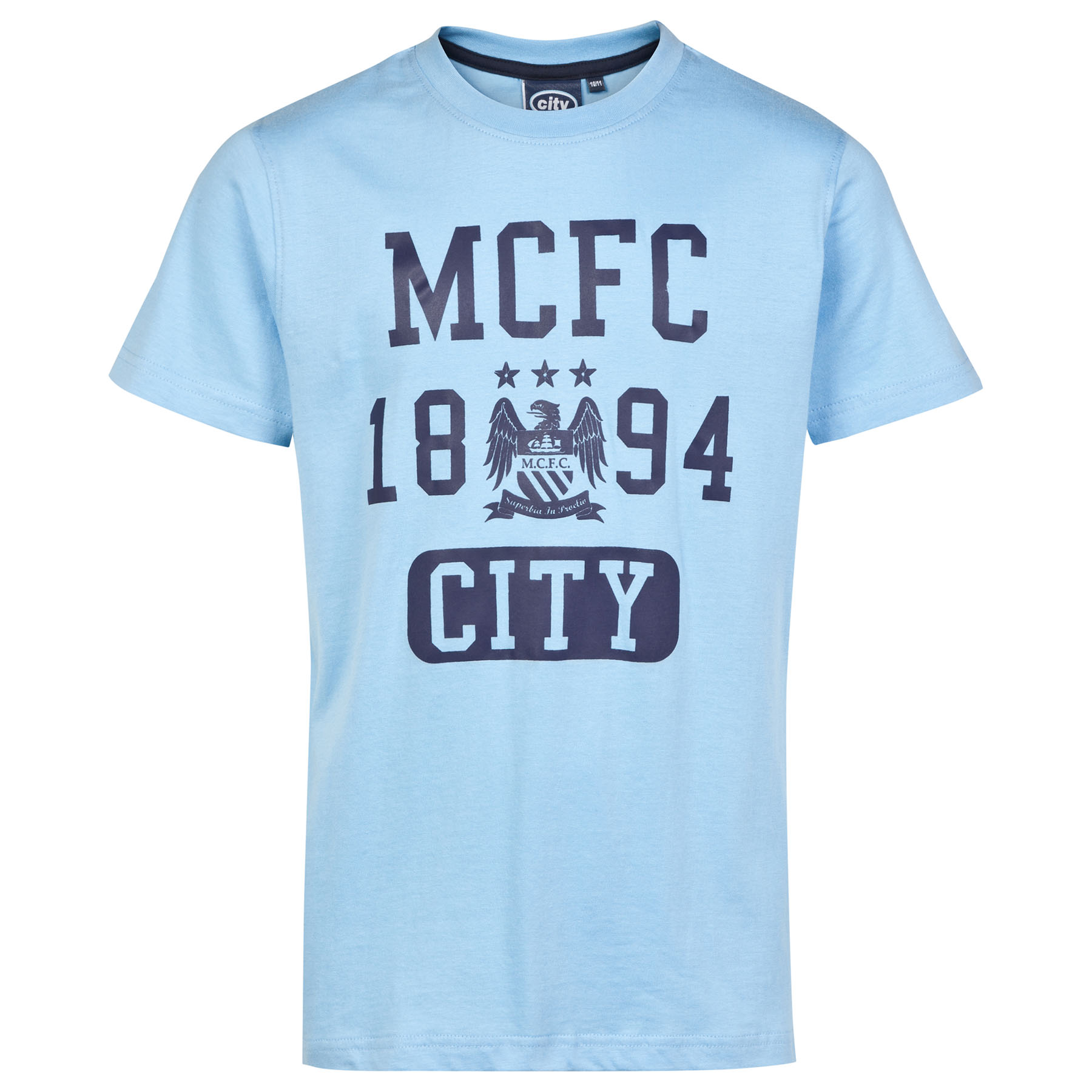 Manchester City Essential T-Shirt - Sky Blue- Infant Boys