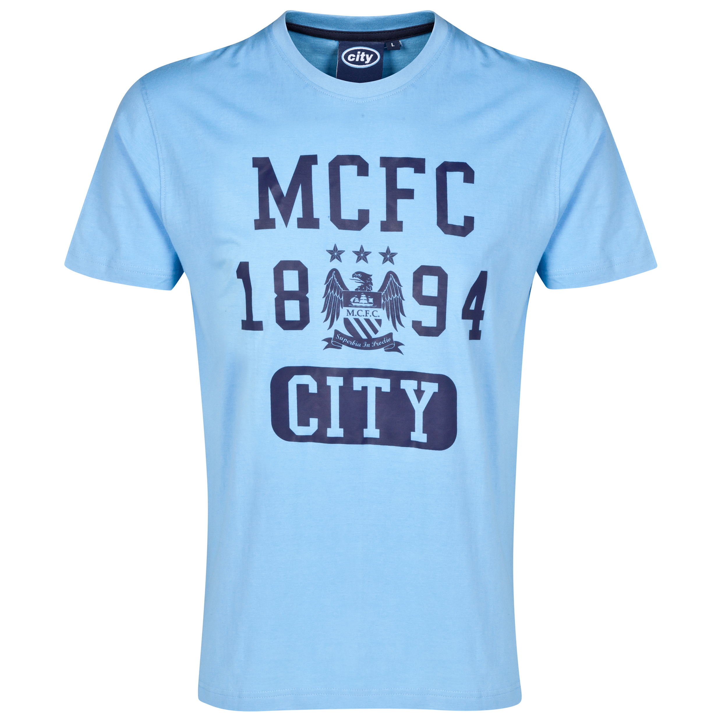 Manchester City Essential T-Shirt - Sky - Mens