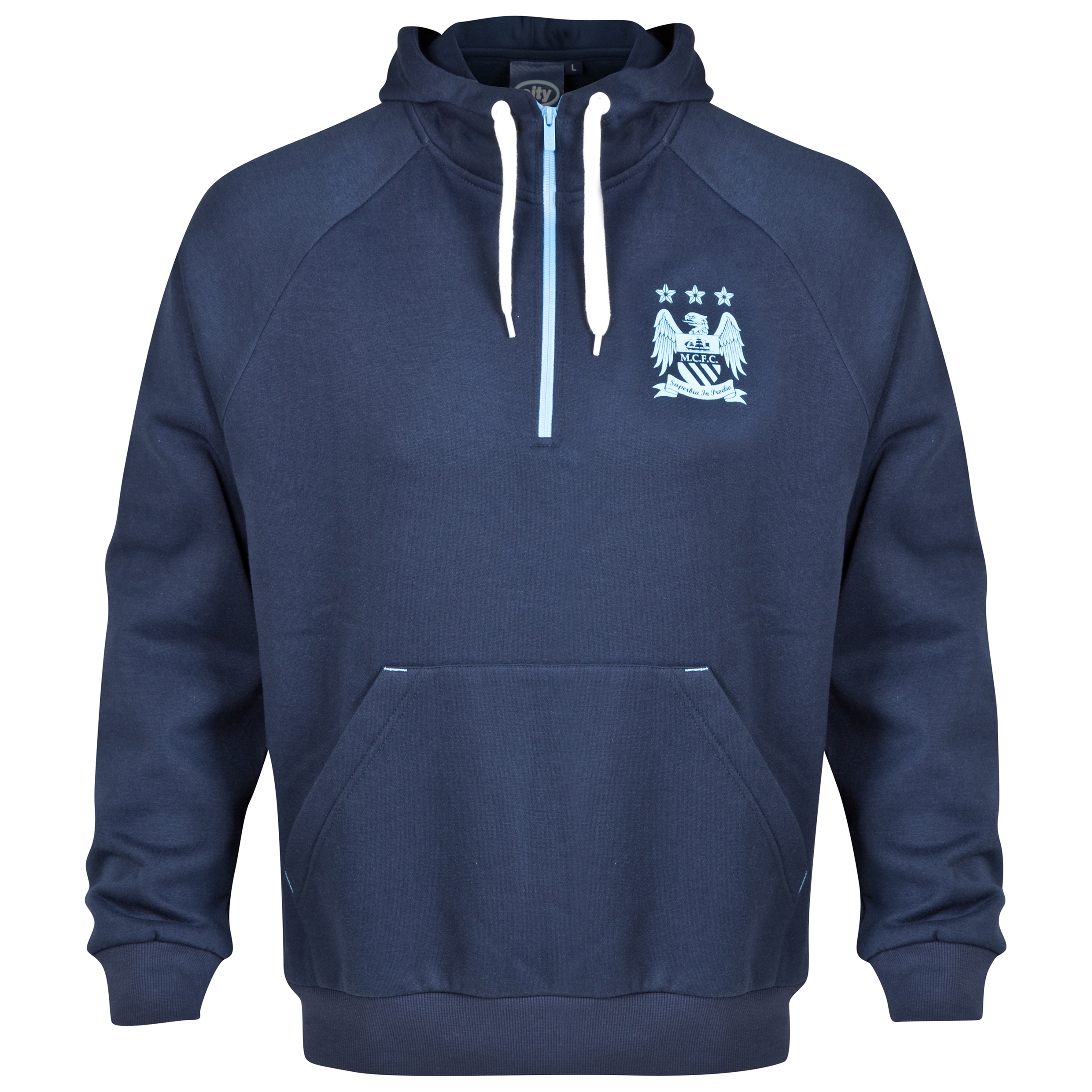 Manchester City Essential Hoodie - Navy - Mens
