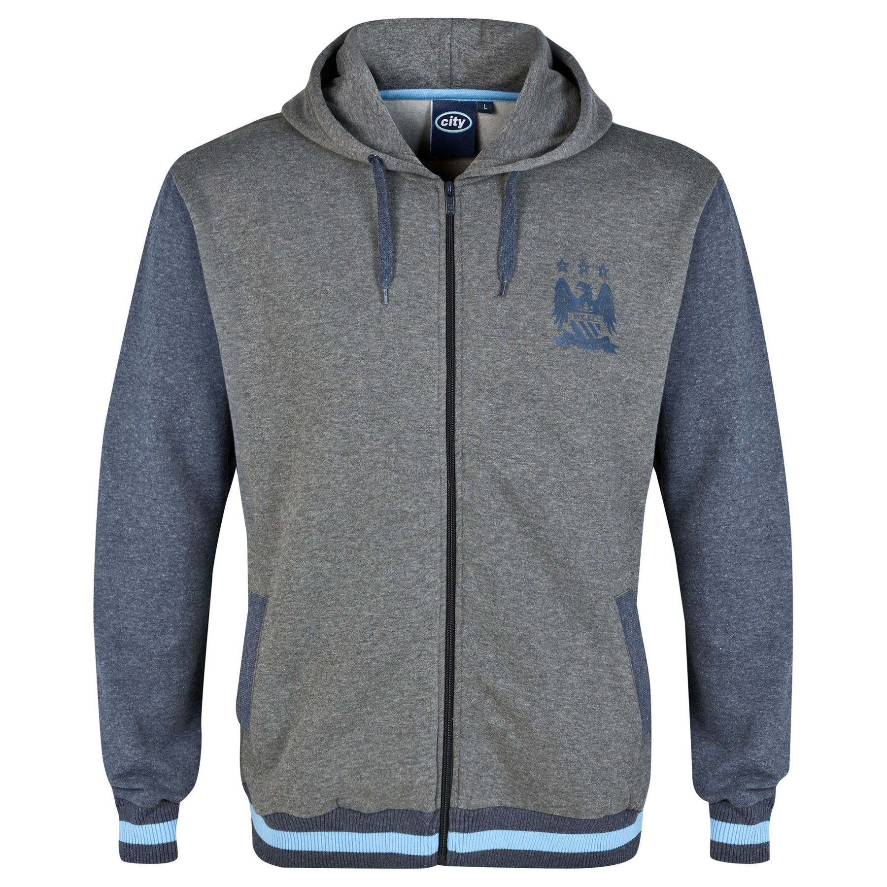 Manchester City Classic Hoodie-Vintage Marl- Infant Boys
