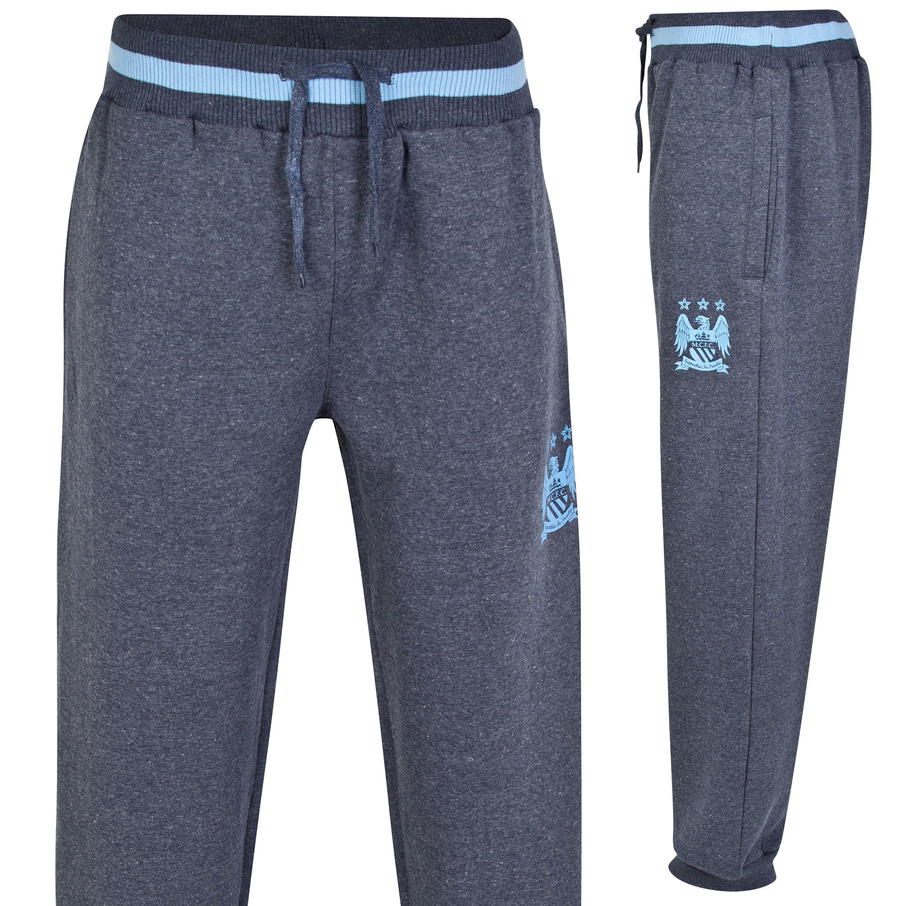 Manchester City Essential Jog Pants - Heather Navy - Mens