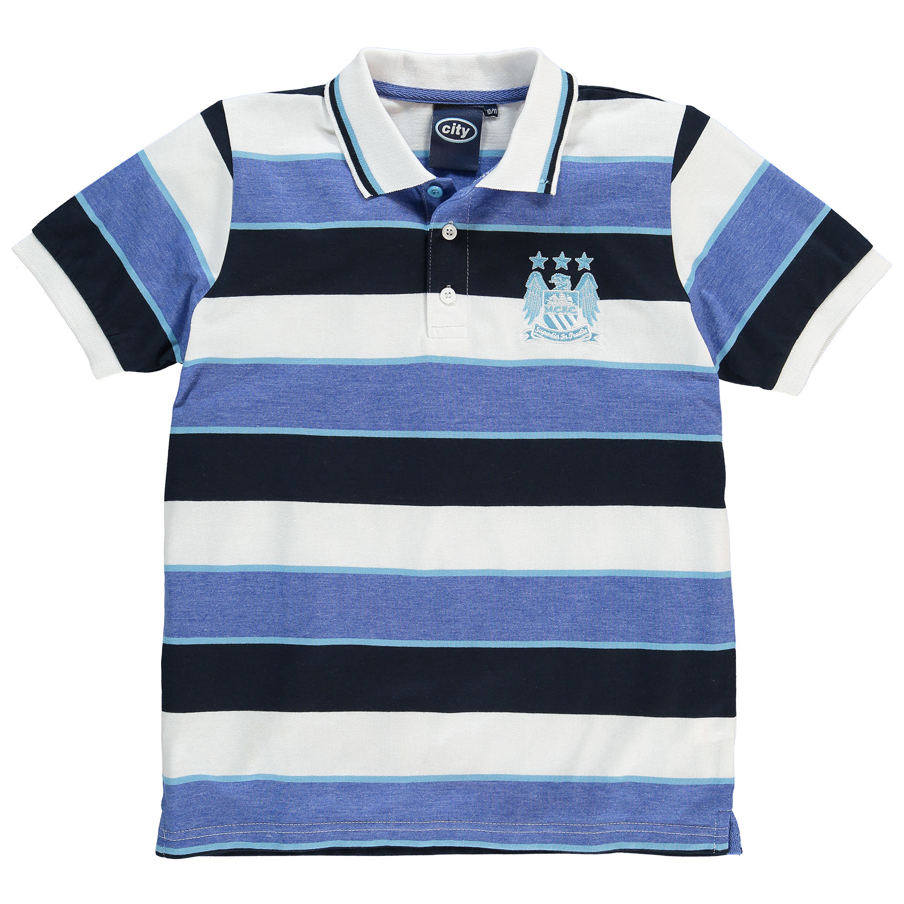 Manchester City Classic Polo Shirt- White/Multi - Infant Boys