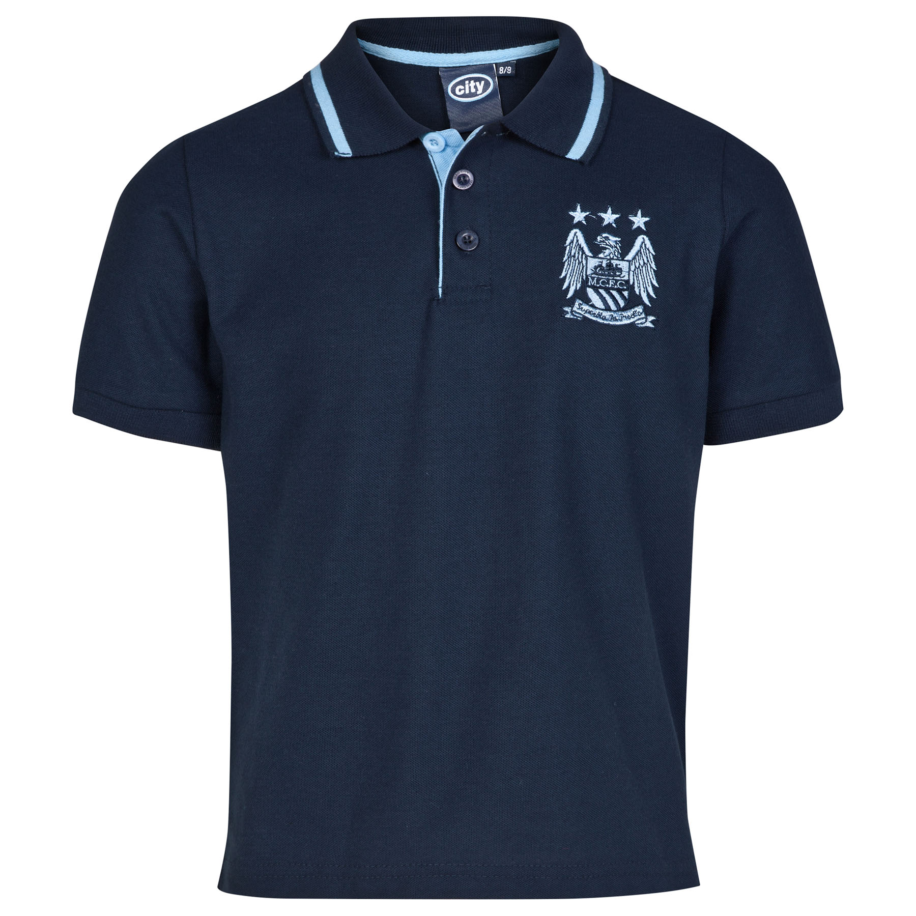 Manchester City Essential Polo Shirt - Navy - Older Boys