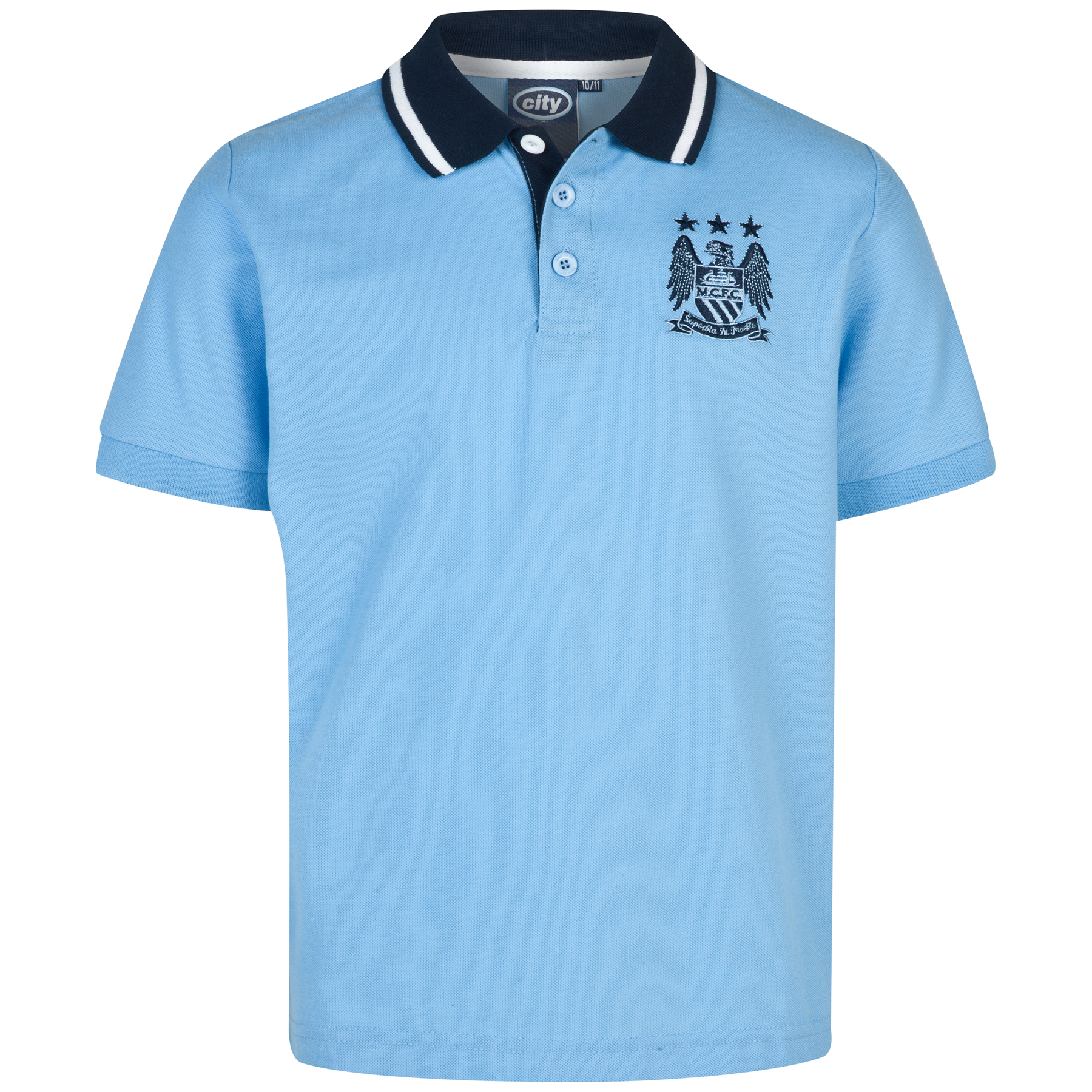 Manchester City Essential Polo Shirt -Sky - Older Boys