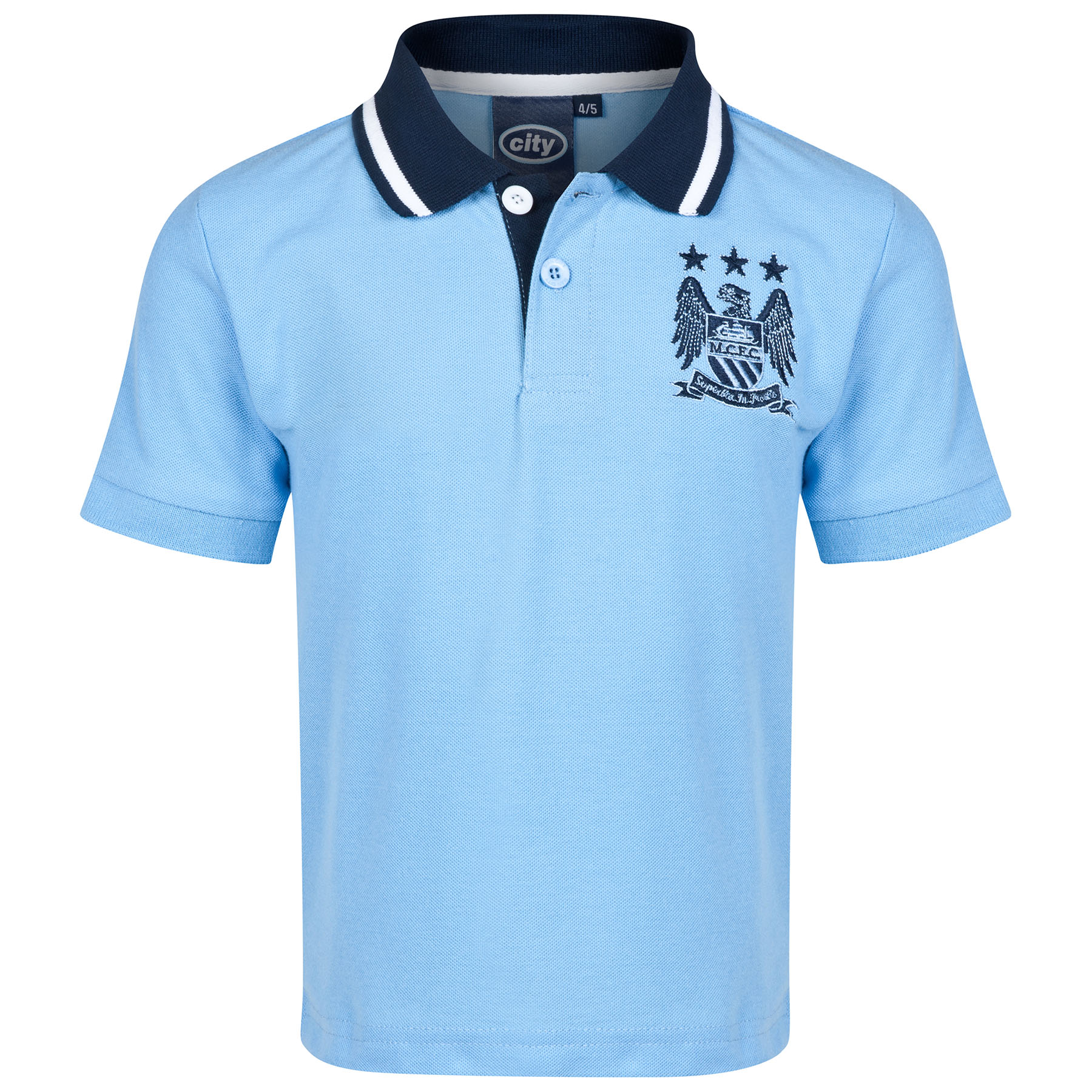 Manchester City Essential Polo Shirt - Sky - Infant Boys