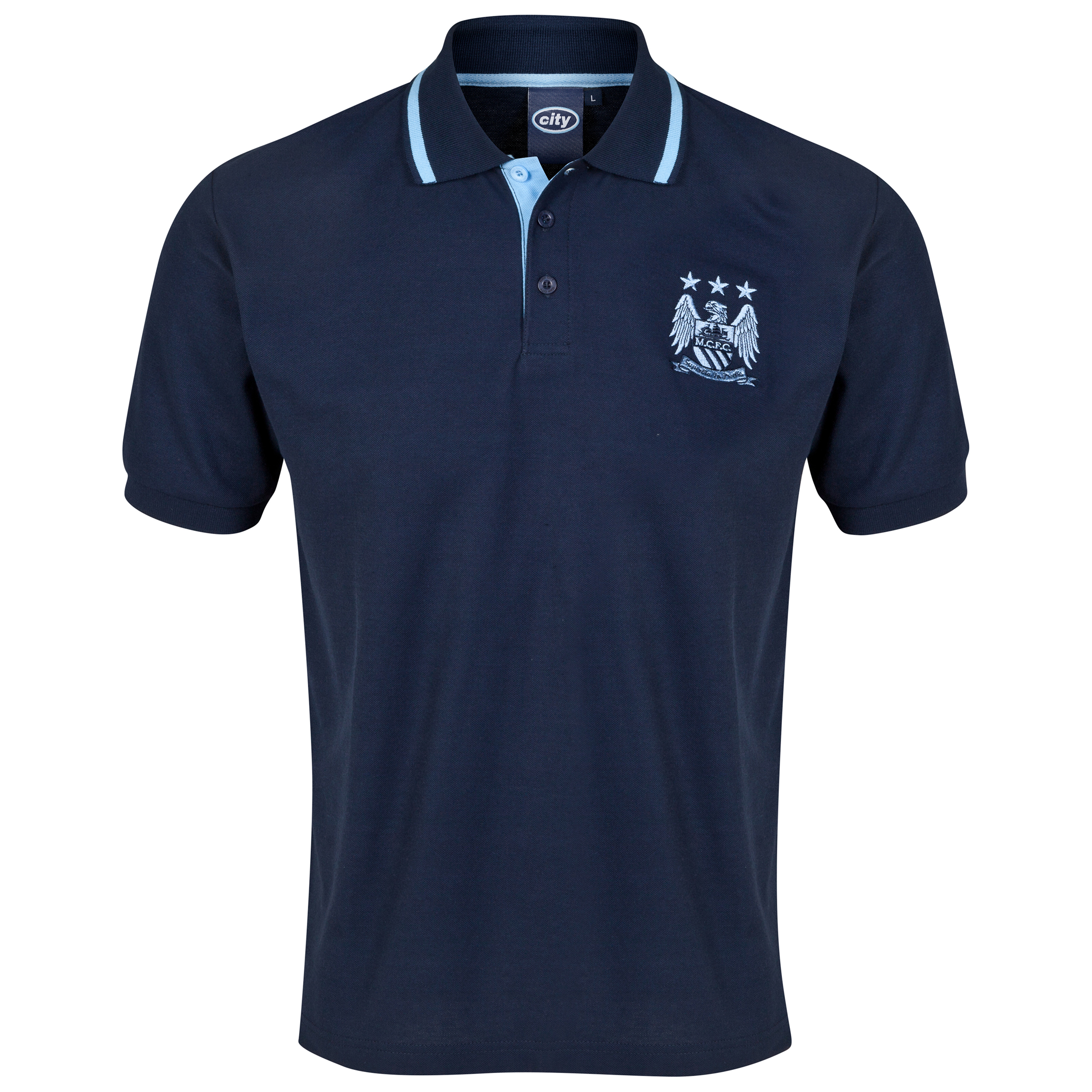 Manchester City Essential Polo Shirt - Navy - Mens