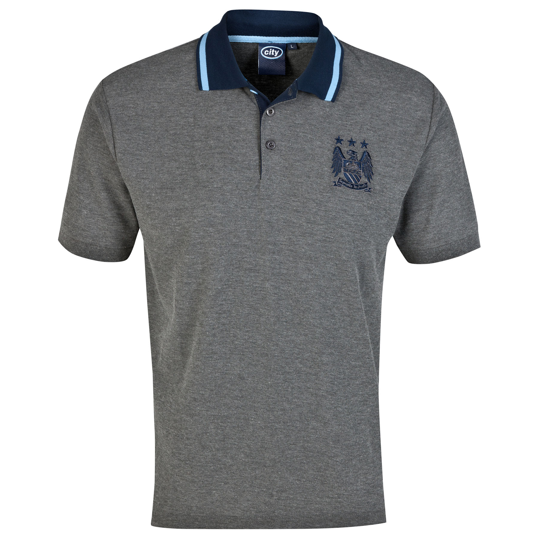 Manchester City Essential Polo Shirt - Vintage Marl - Mens