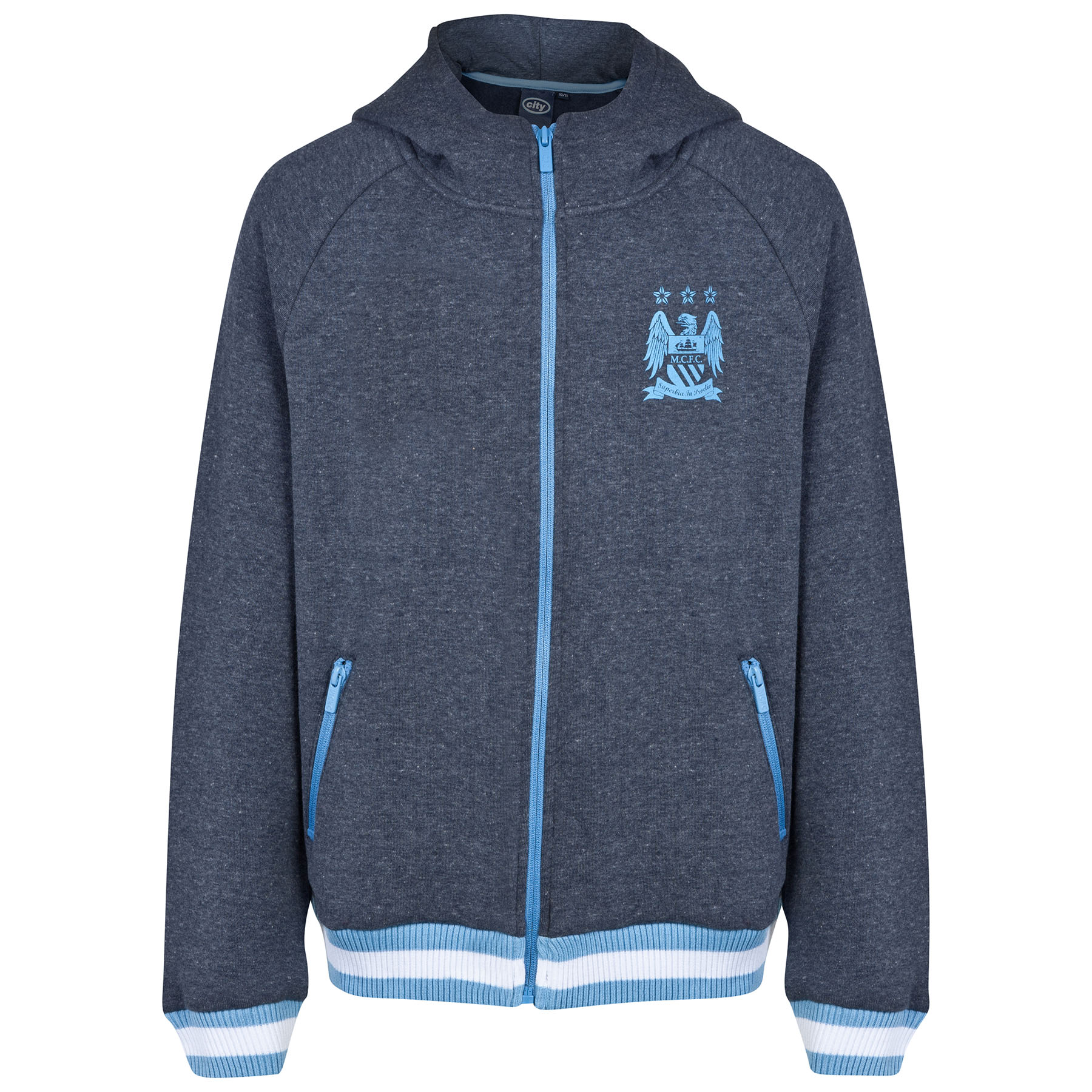 Manchester City Classic Hoodie - Heather Navy - Older Boys