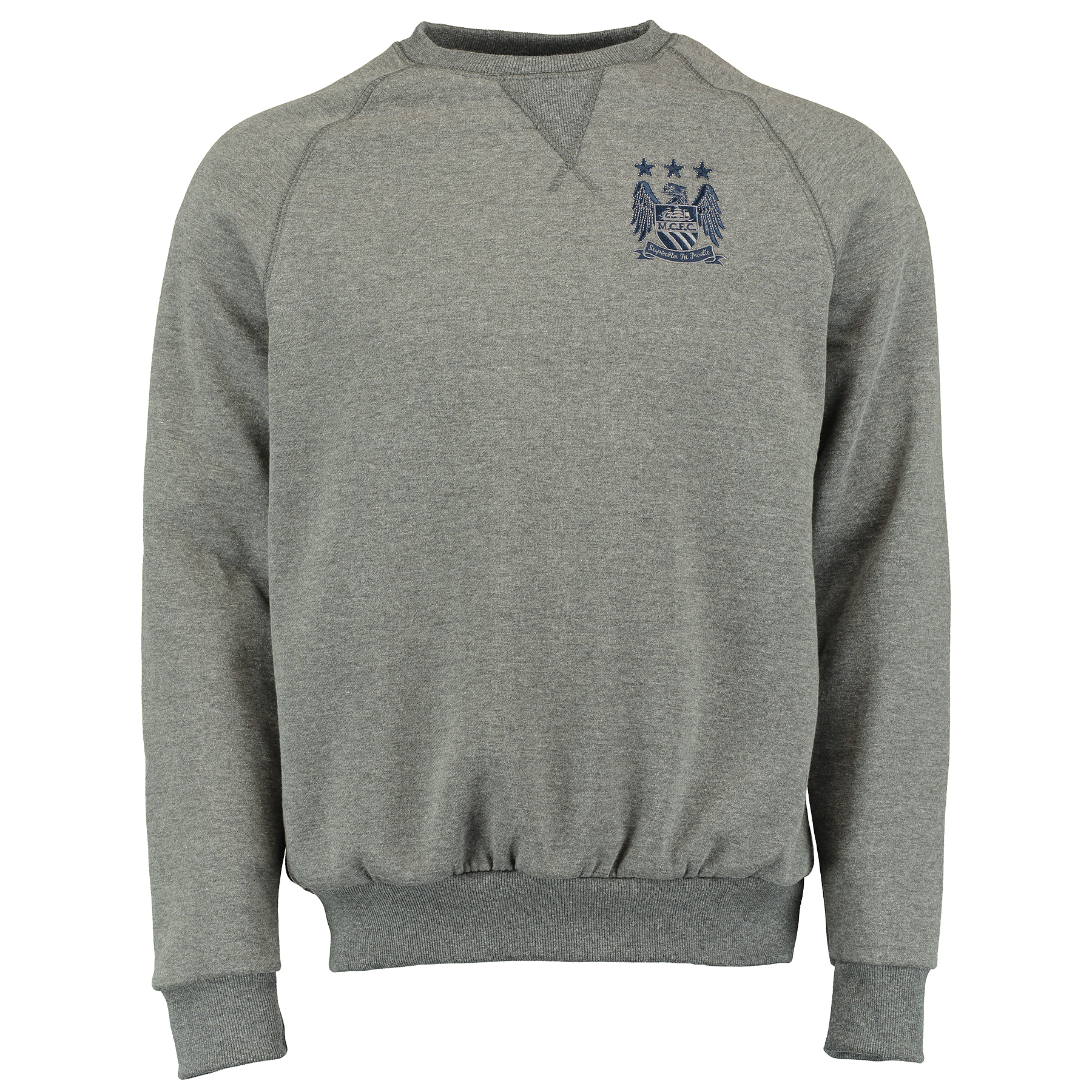 Manchester City Classic Crew Neck Sweater - Vintage Marl - Mens