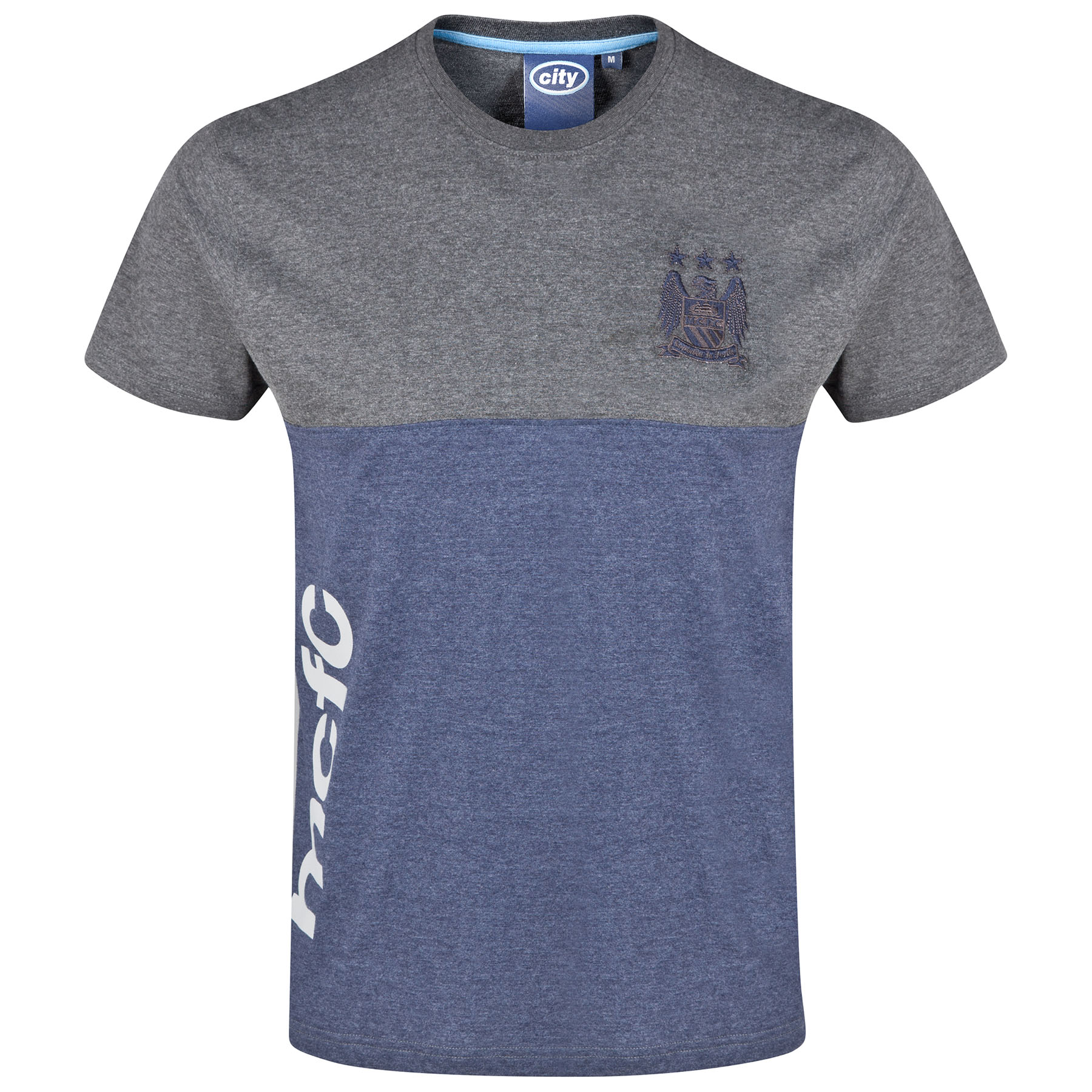 Manchester City Essential T-Shirt - Vintage Marl/Heather Navy - Mens