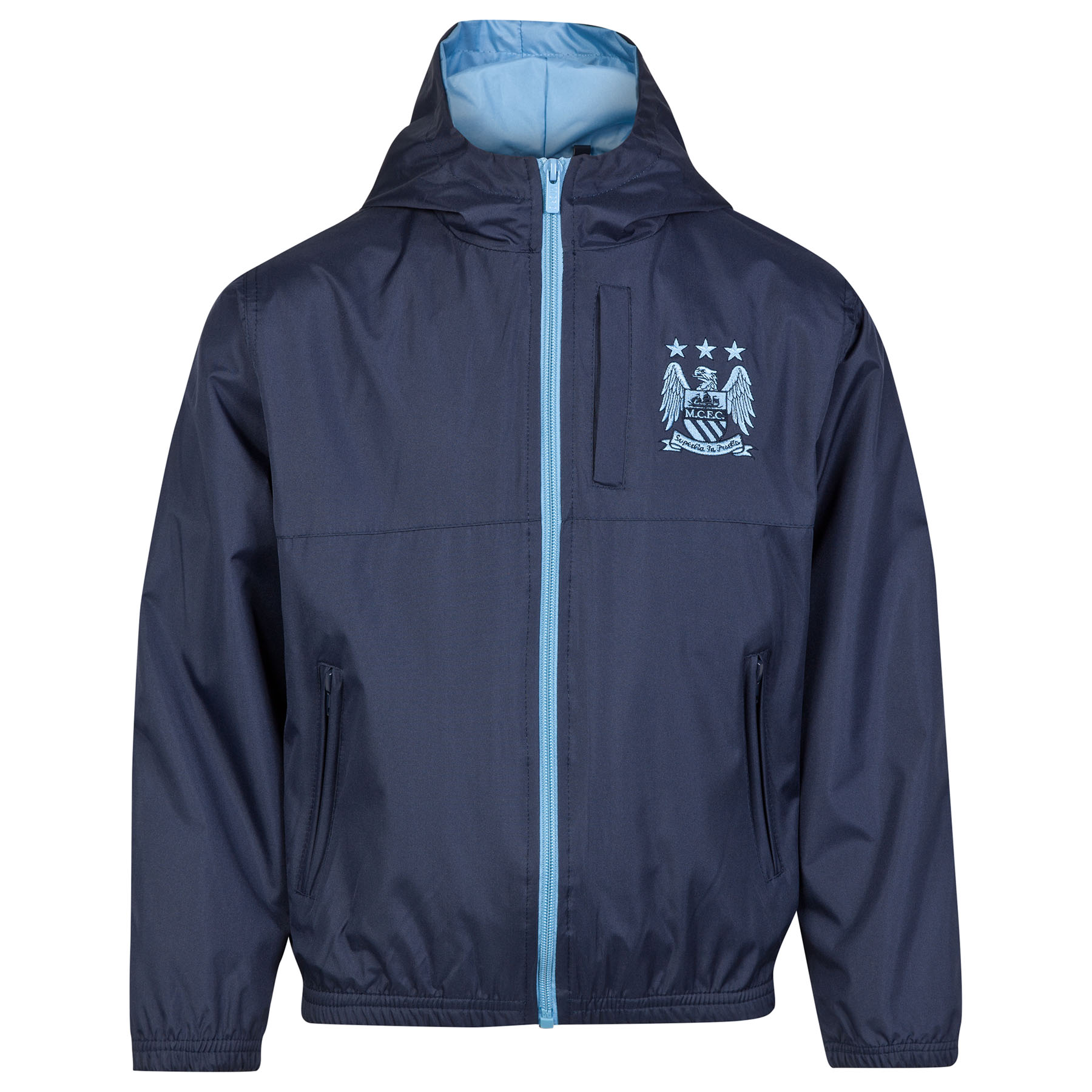 Manchester City Essential Shower Jacket - Navy - Older Boys