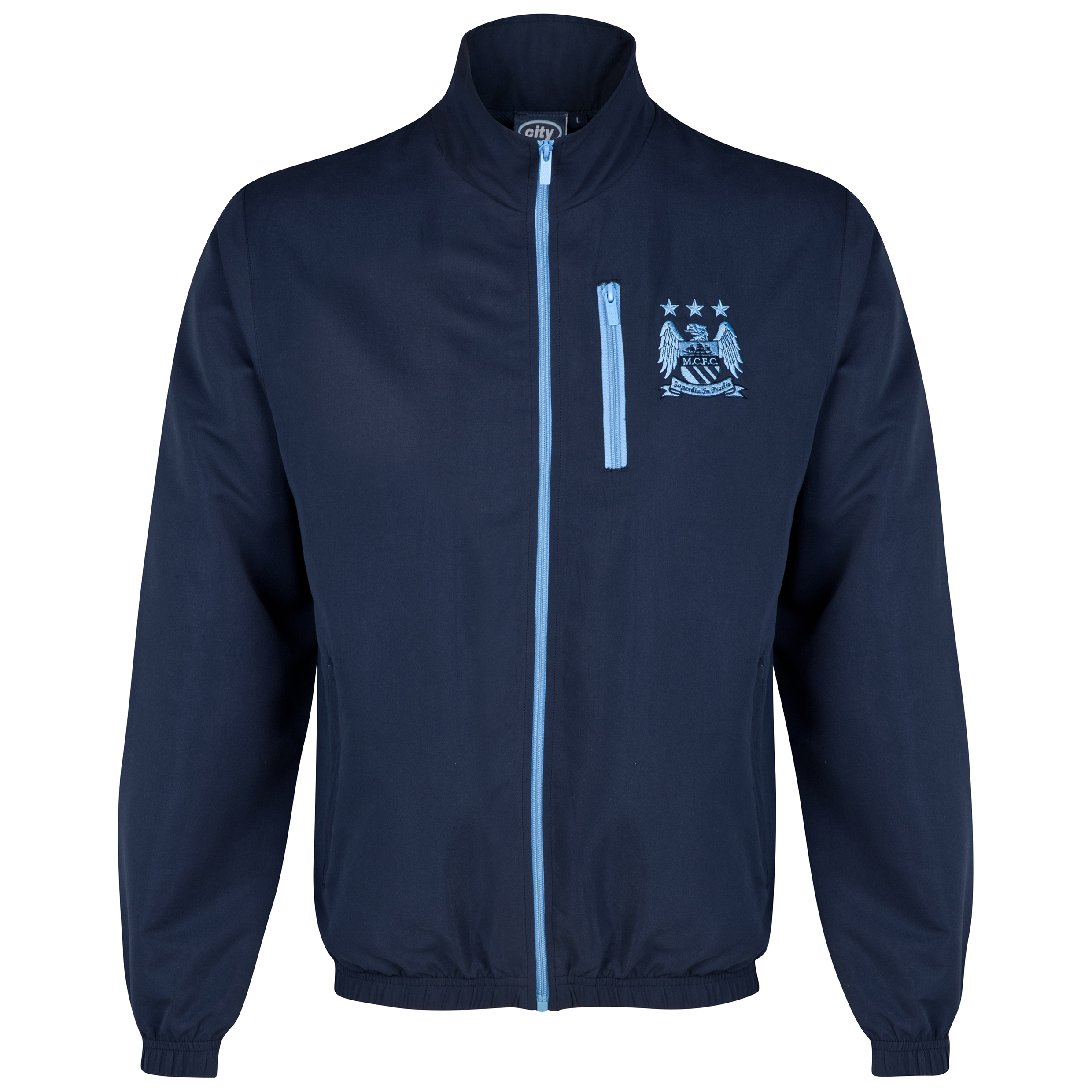 Manchester City Essential Track Jacket- Navy - Older Boys