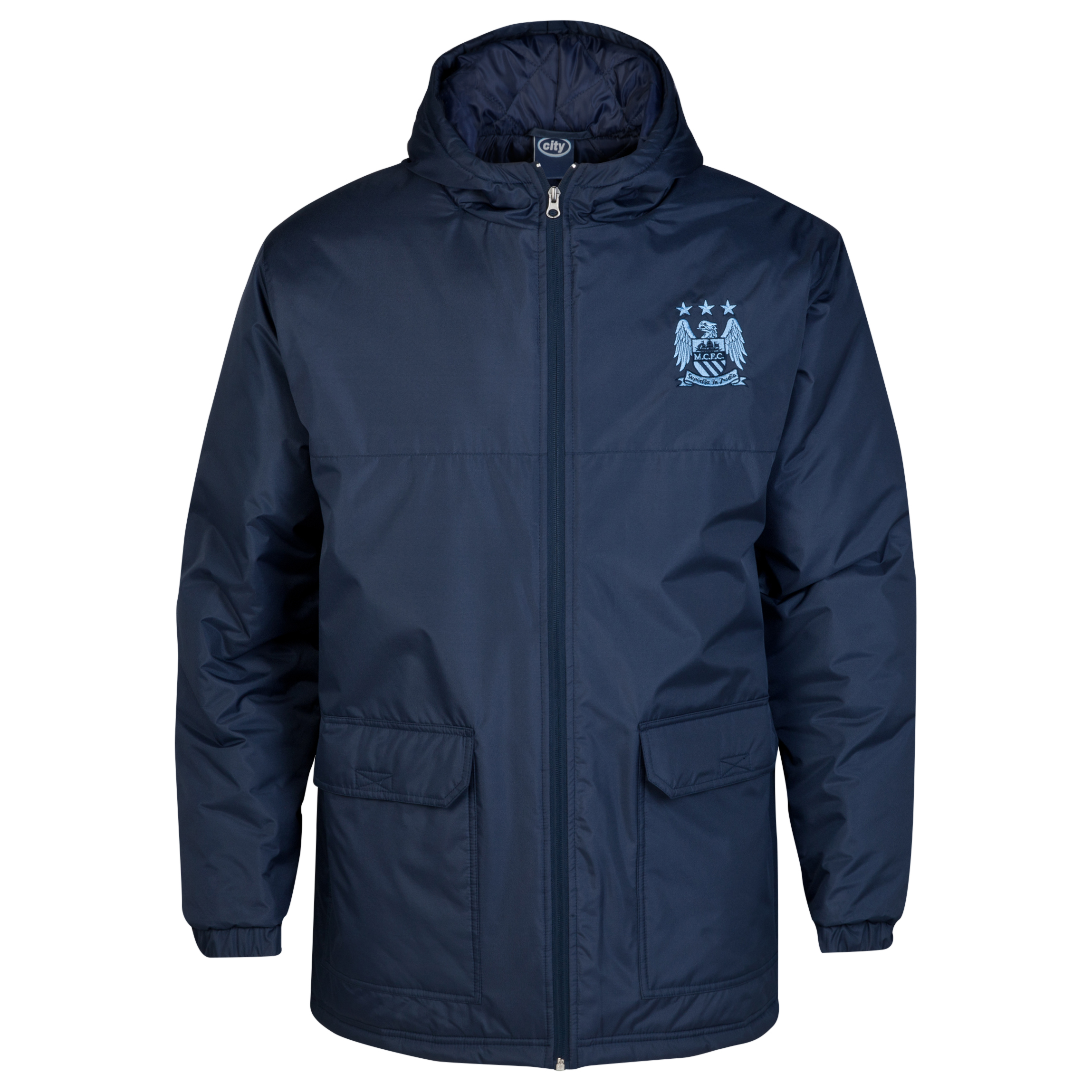 Manchester City Essential Padded Jacket - Navy - Mens