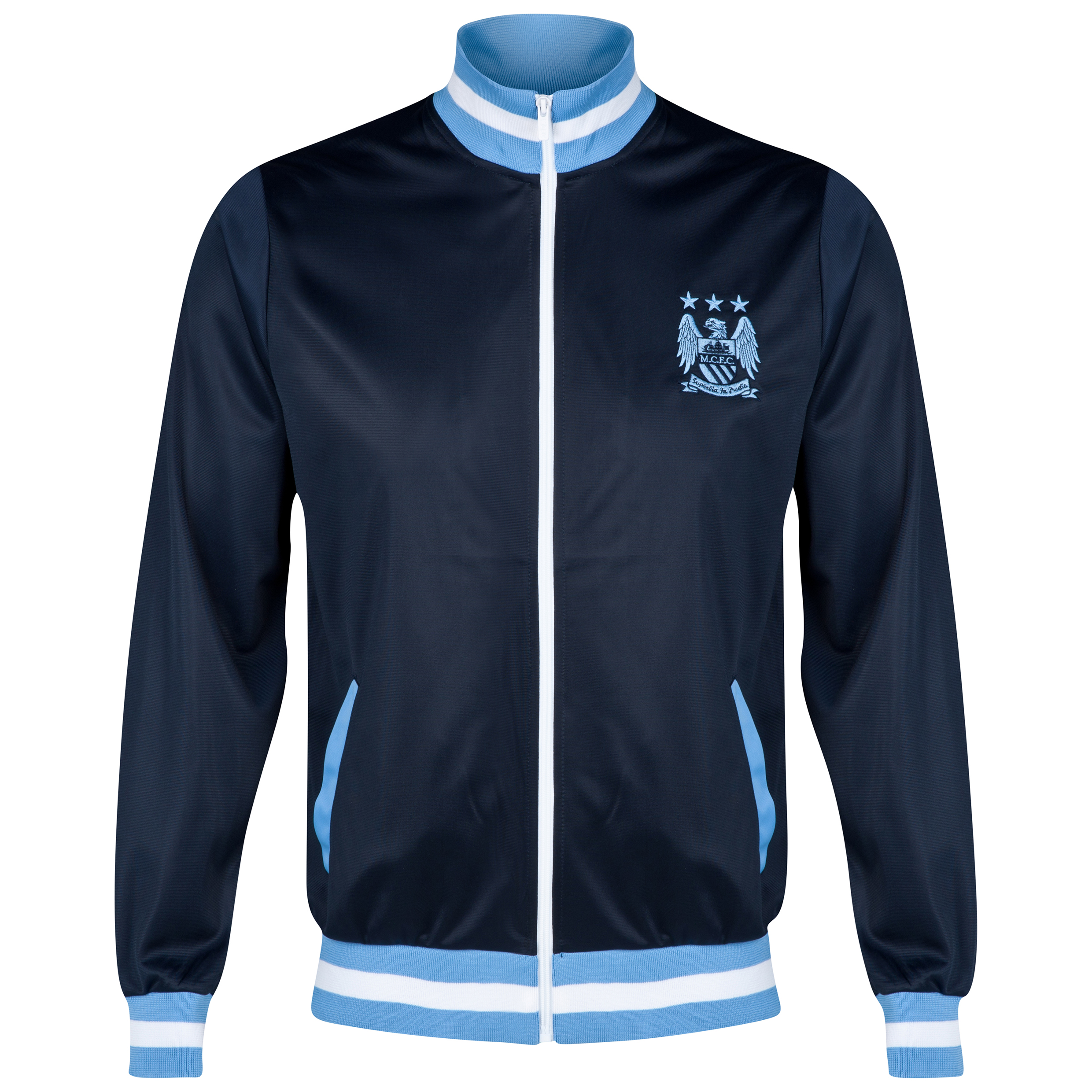 Manchester City Essential Track Jacket - Navy - Mens