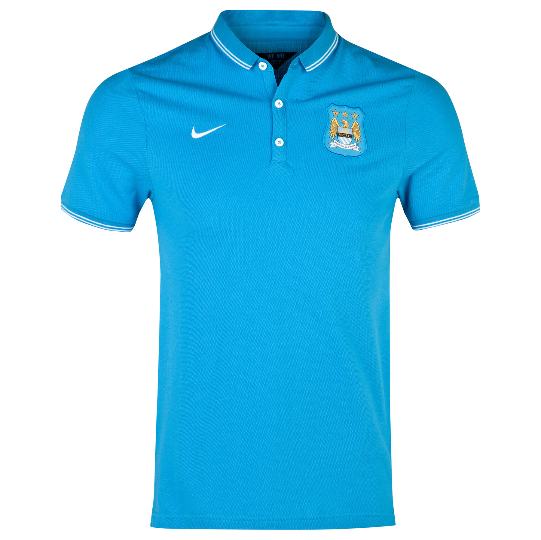 Manchester City League Authentic Polo Sky Blue