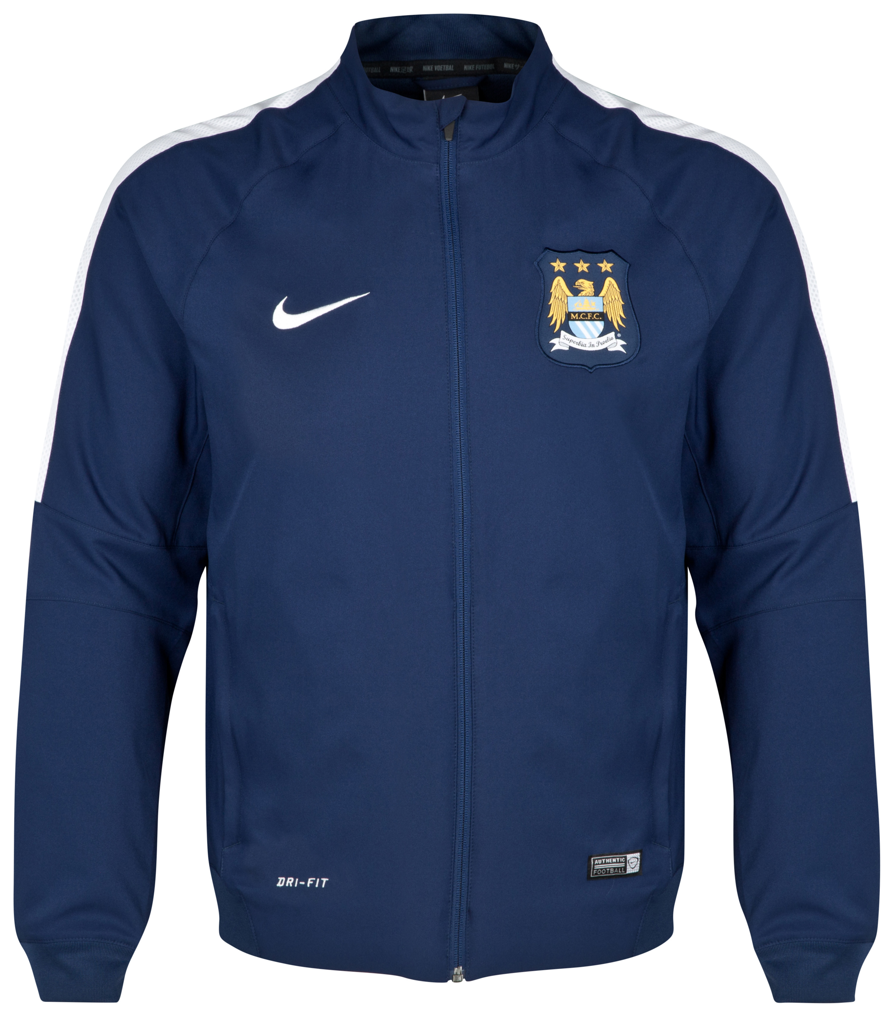 Manchester City Squad Sideline Woven Jacket Navy