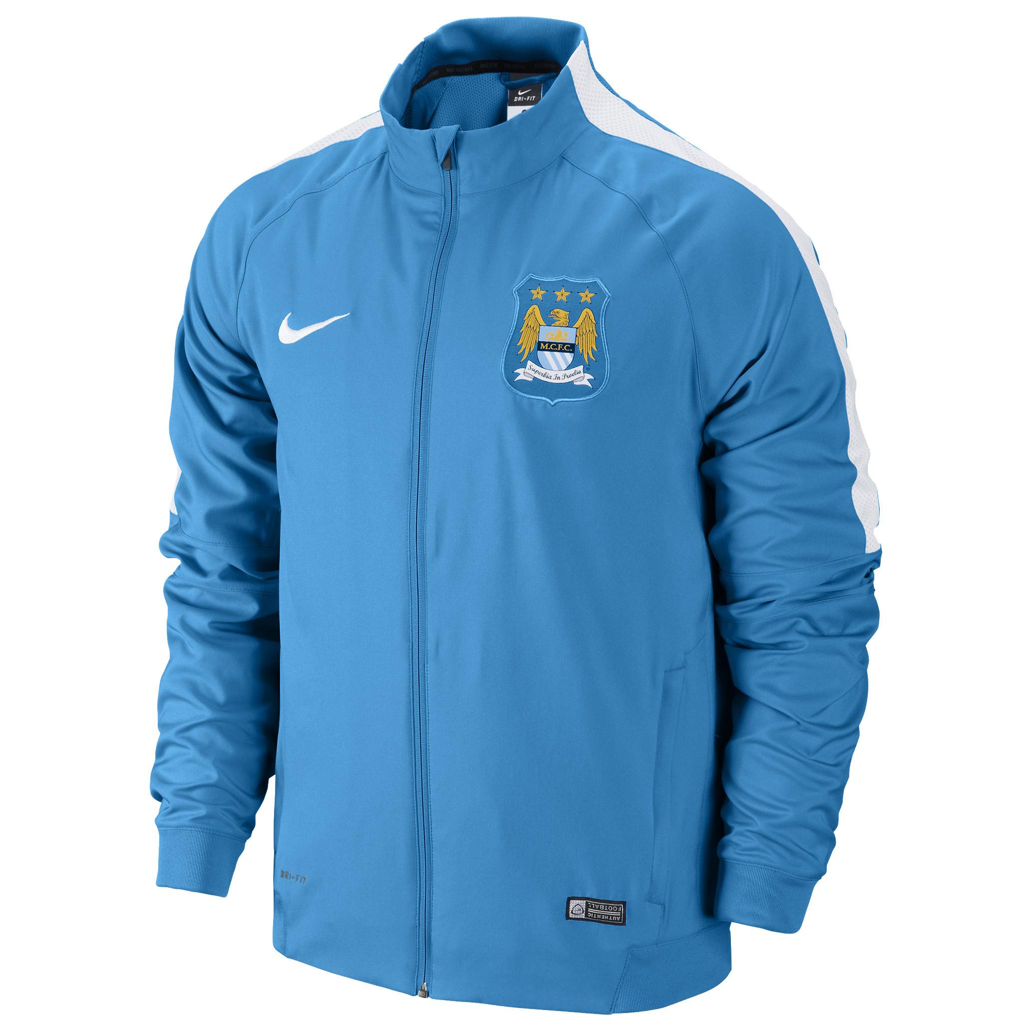 Manchester City Squad Sideline Woven Jacket Sky Blue