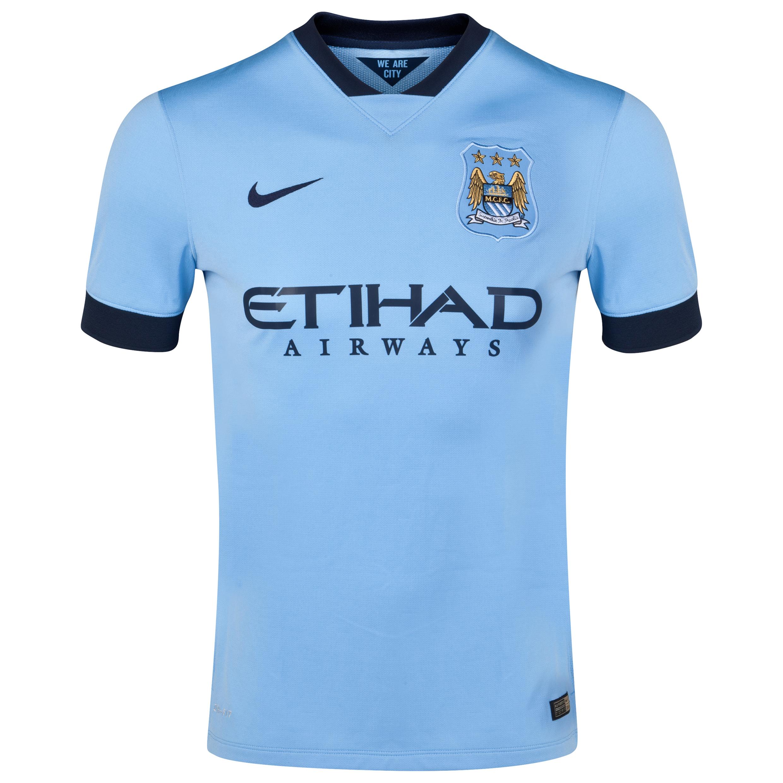 Manchester City Home Shirt 2014/15 Sky Blue