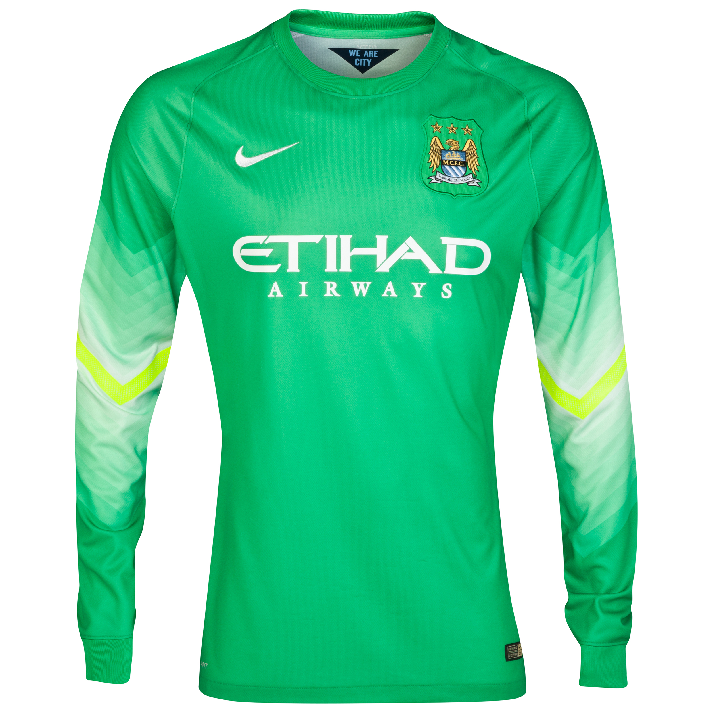 Manchester City Goalkeeper Shirt 2014/15 Lt Green