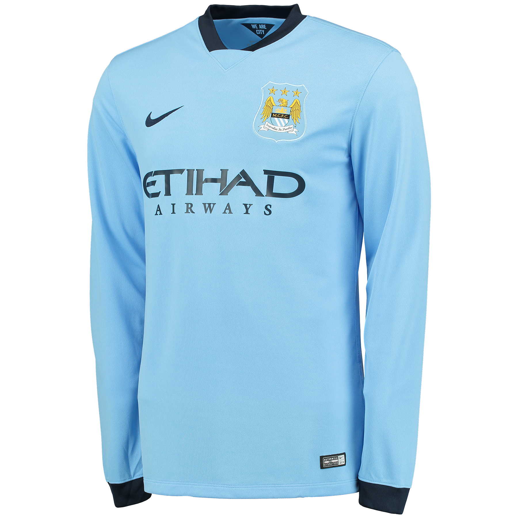 Manchester City Home Shirt 2014/15 - Long Sleeve Sky Blue