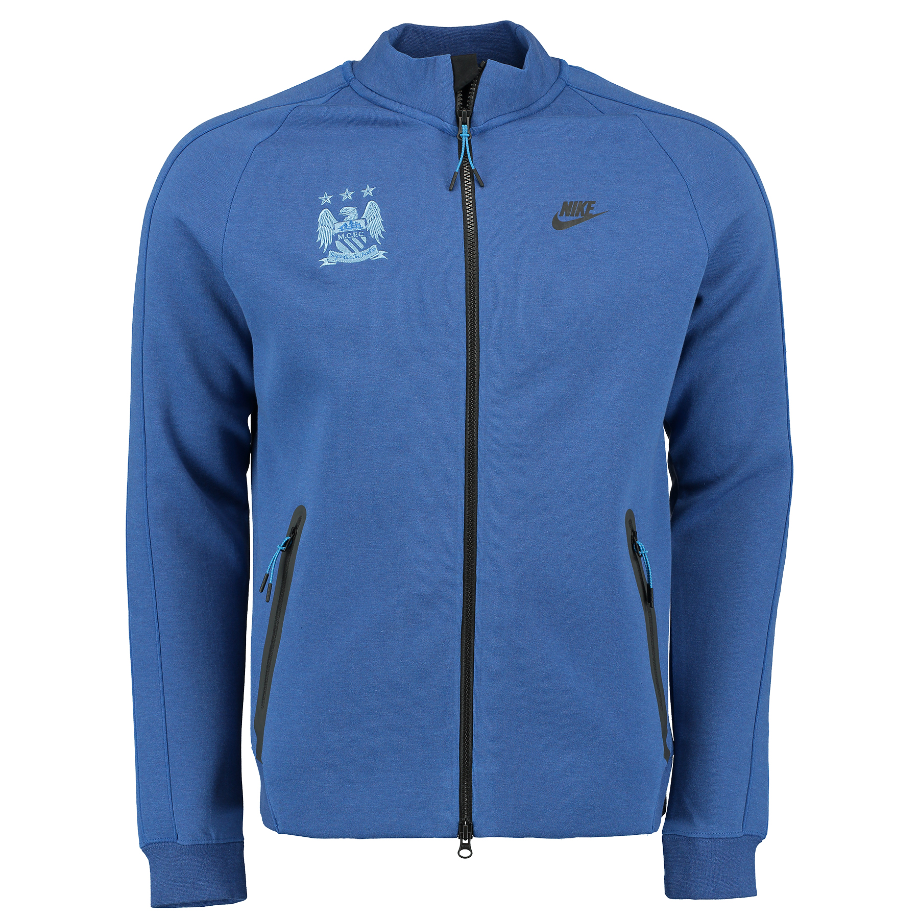 Manchester City N98 Tech Fleece Track Jacket Royal Blue