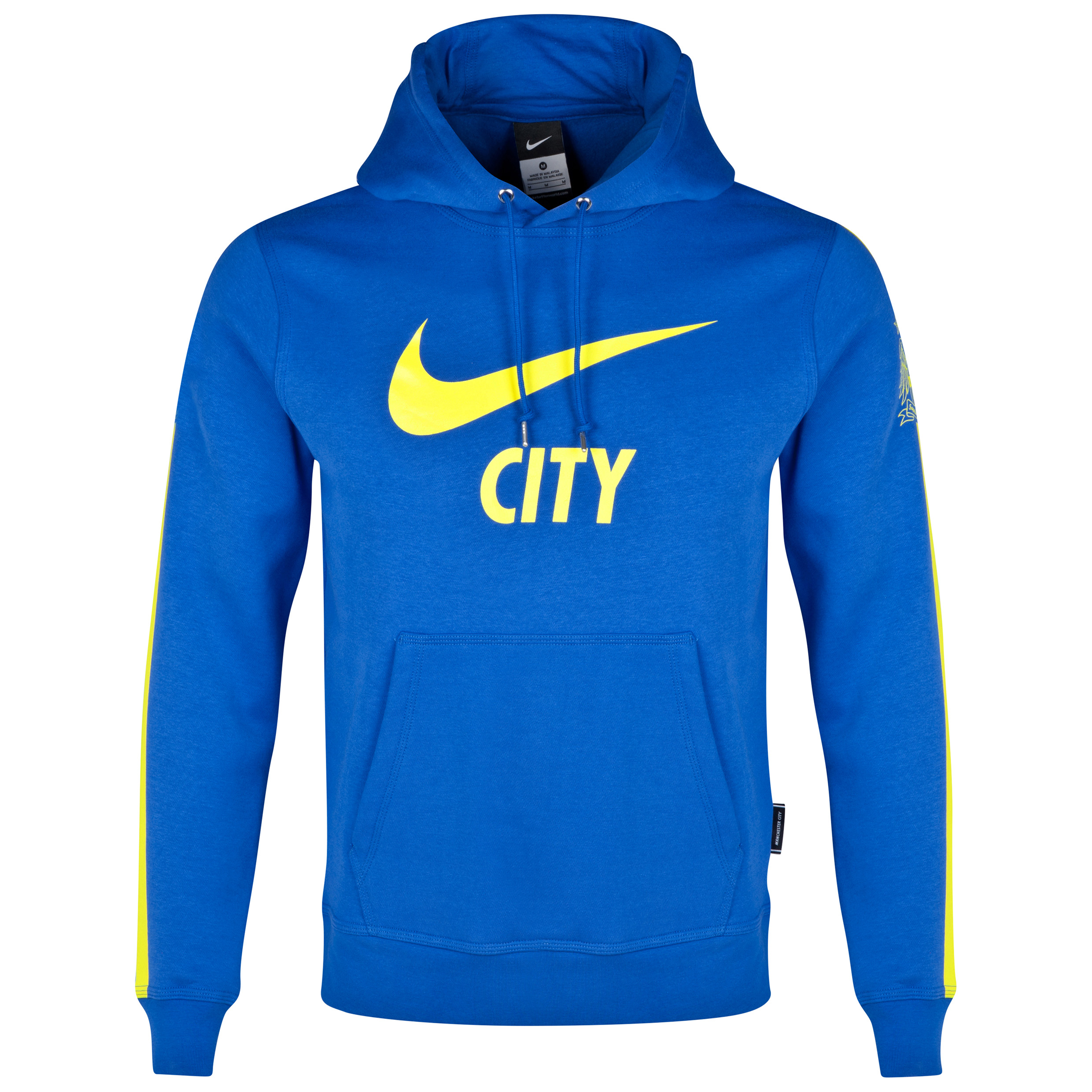 Manchester City Core Fleece Hoody - Kids Royal Blue