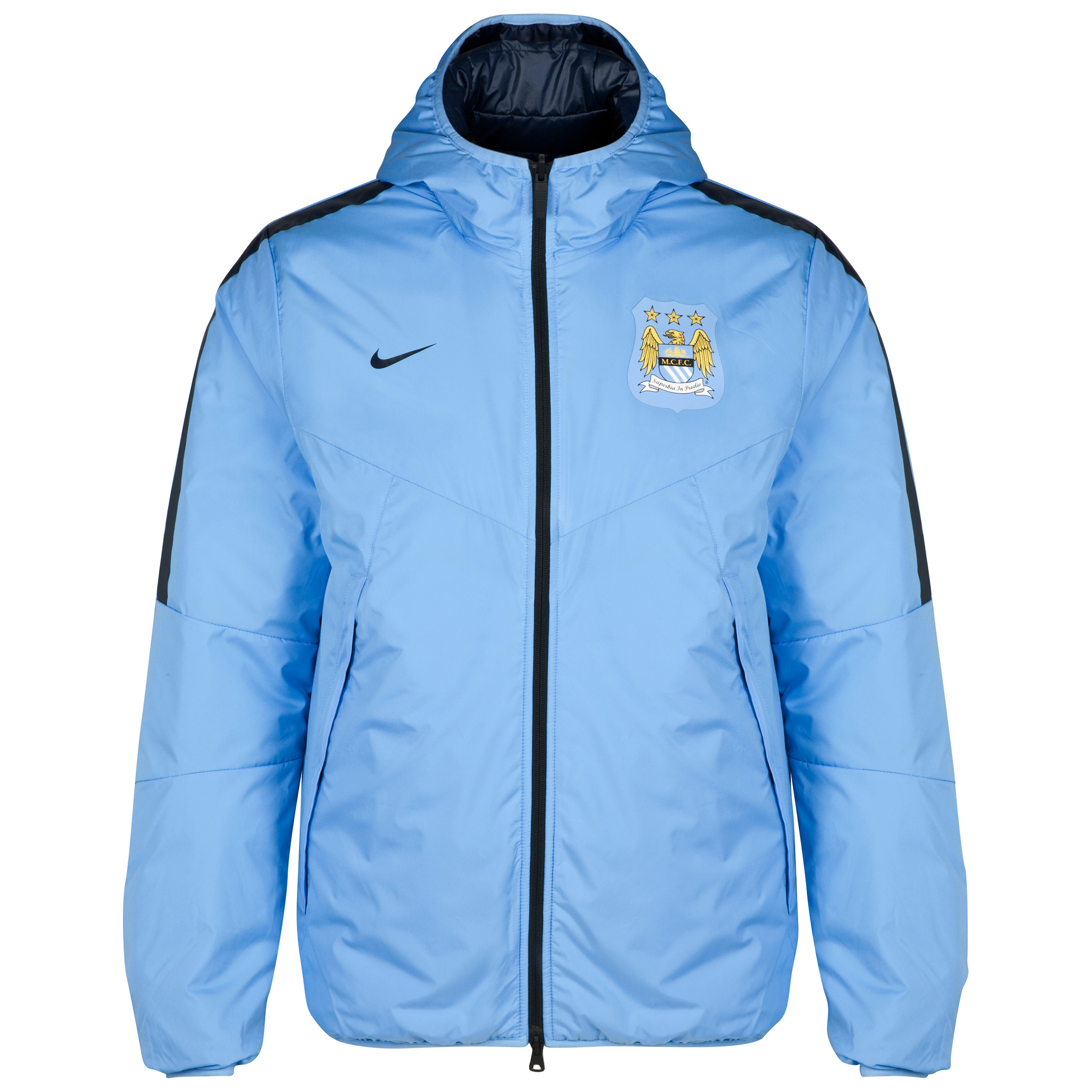Manchester City Core Padded Jacket Blue