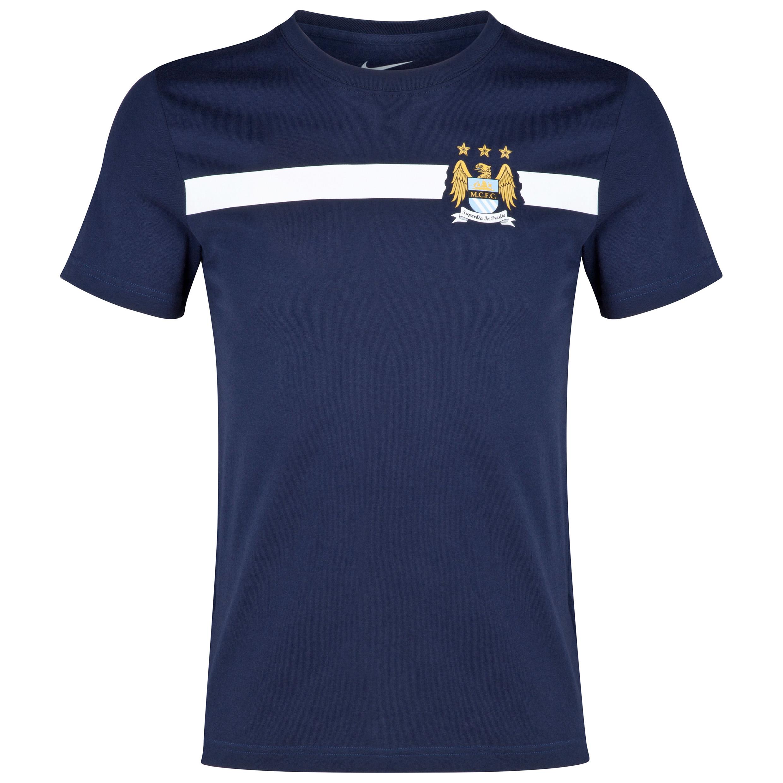 Manchester City Core T-Shirt Dk Blue