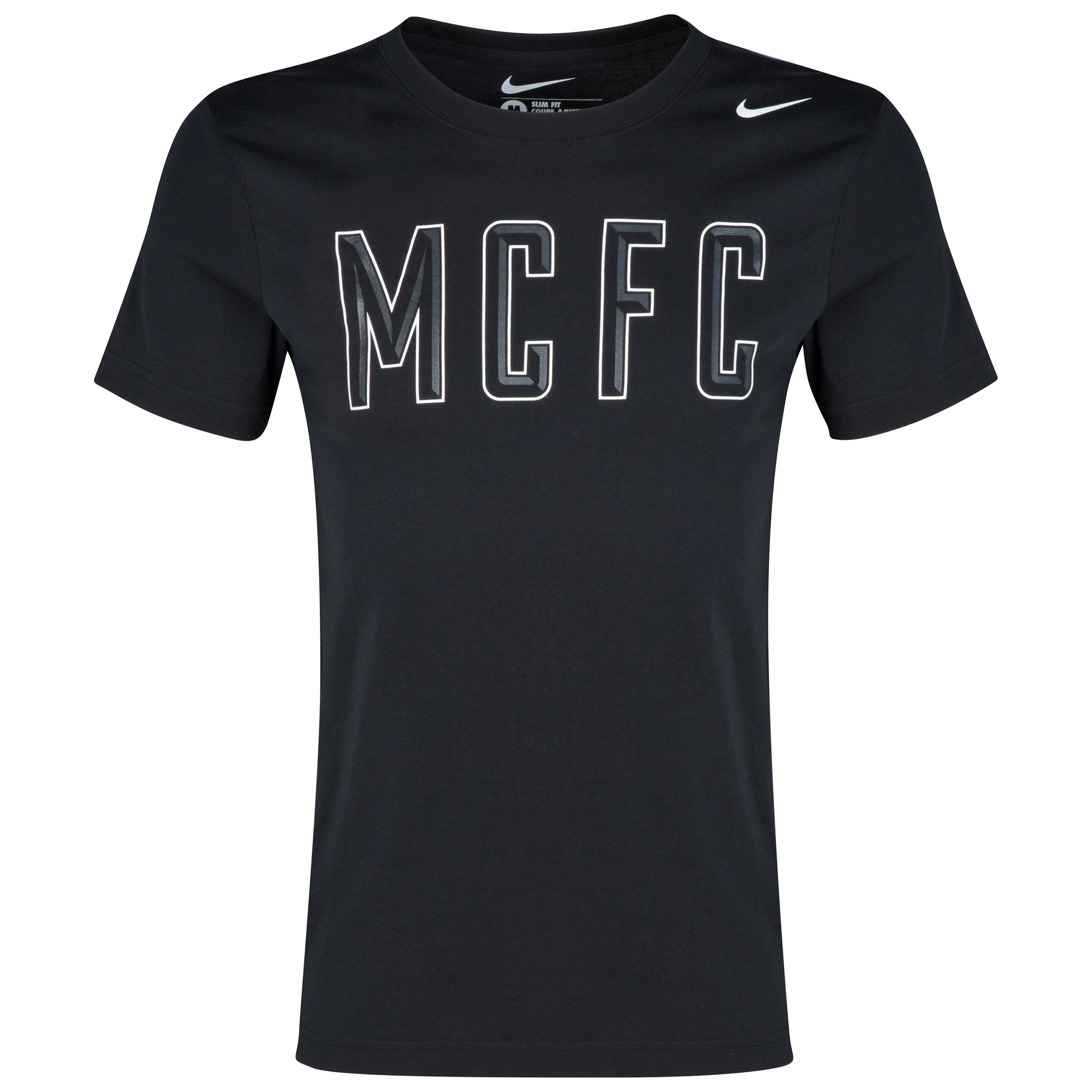 Manchester City Core Plus T-Shirt Black
