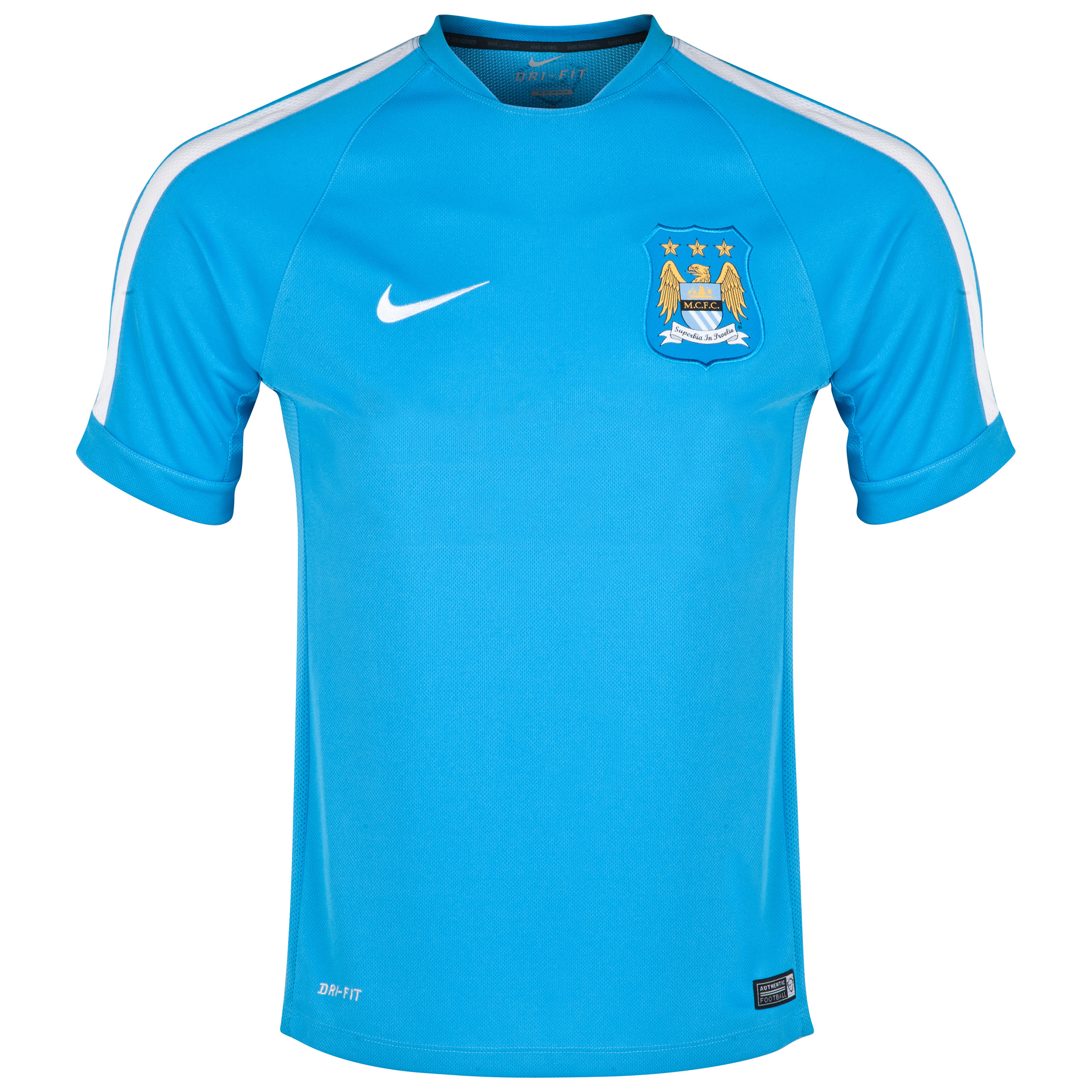 Manchester City Squad Short Sleeve Training Top - Kids Sky Blue