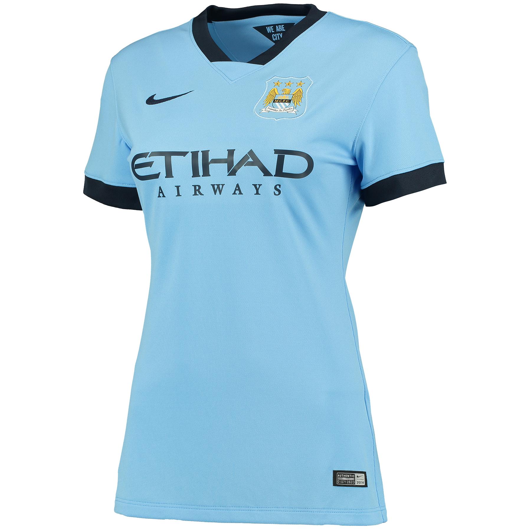 Manchester City Home Shirt 2014/15 - Womens Sky Blue