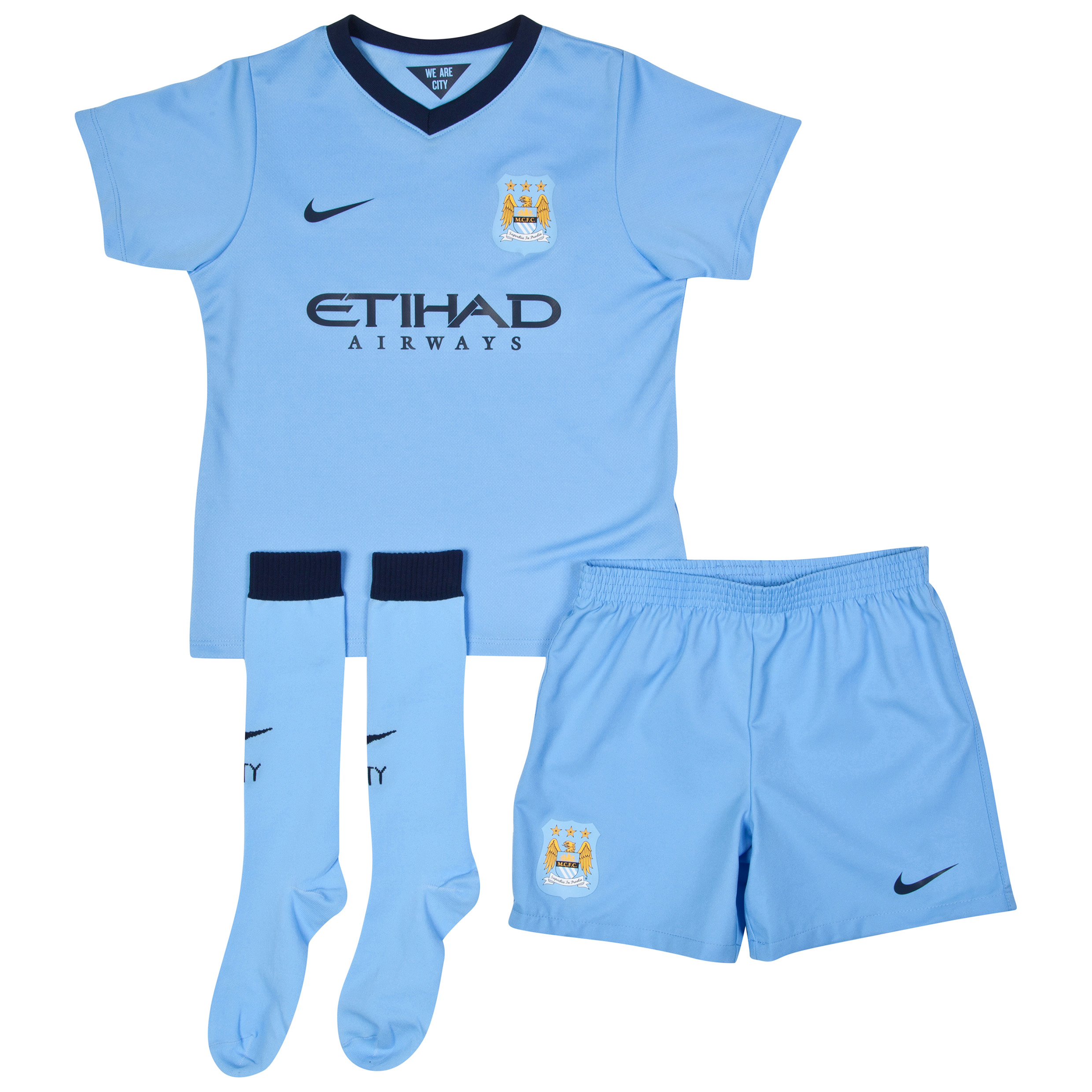 Manchester City Home Kit 2014/15 - Little Boys Sky Blue