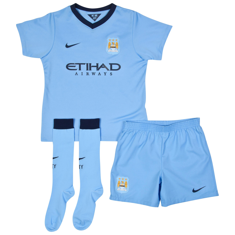 Manchester City Home Kit 2014/15 - Little Boys Sky Blue