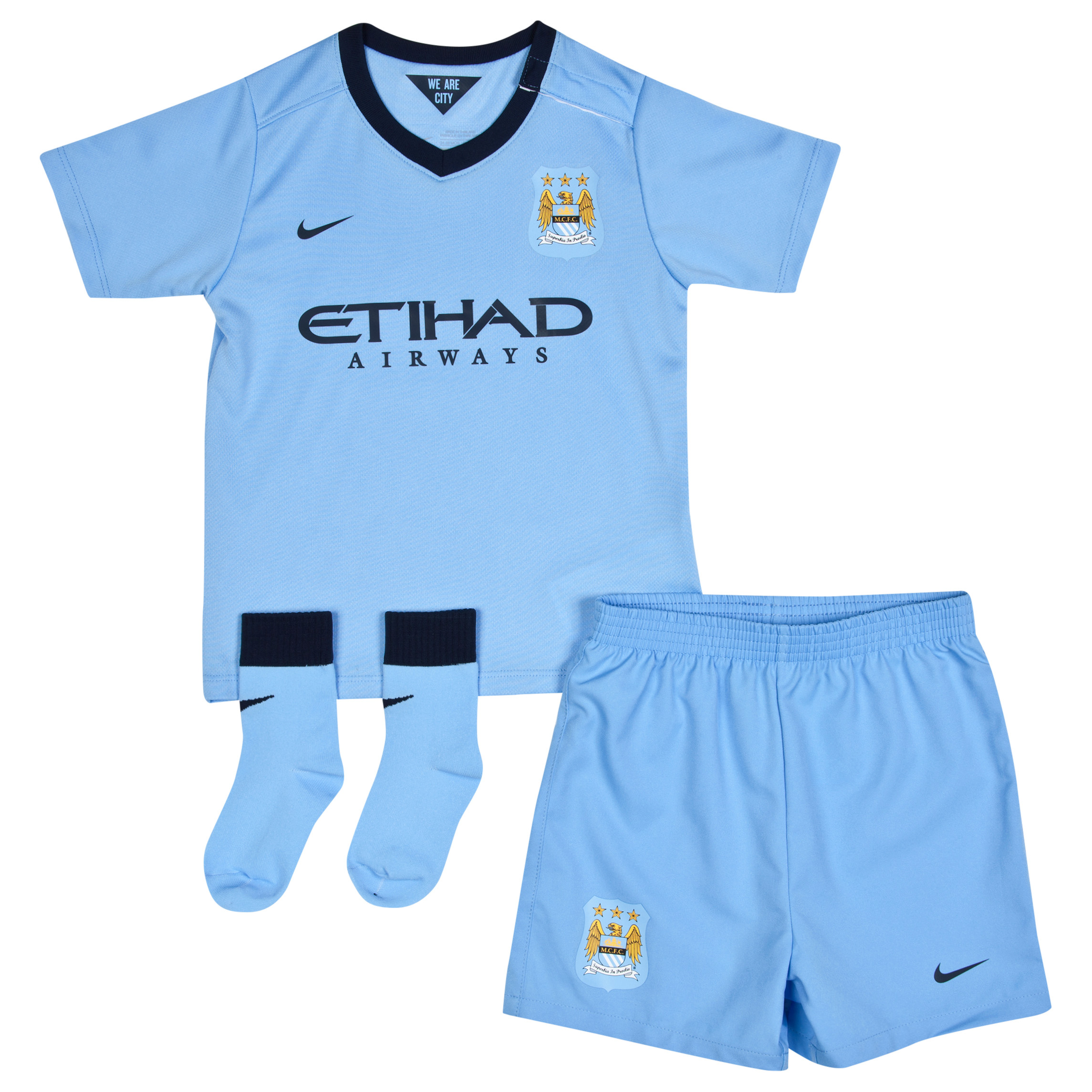 Manchester City Home Kit 2014/15 - Infants Sky Blue