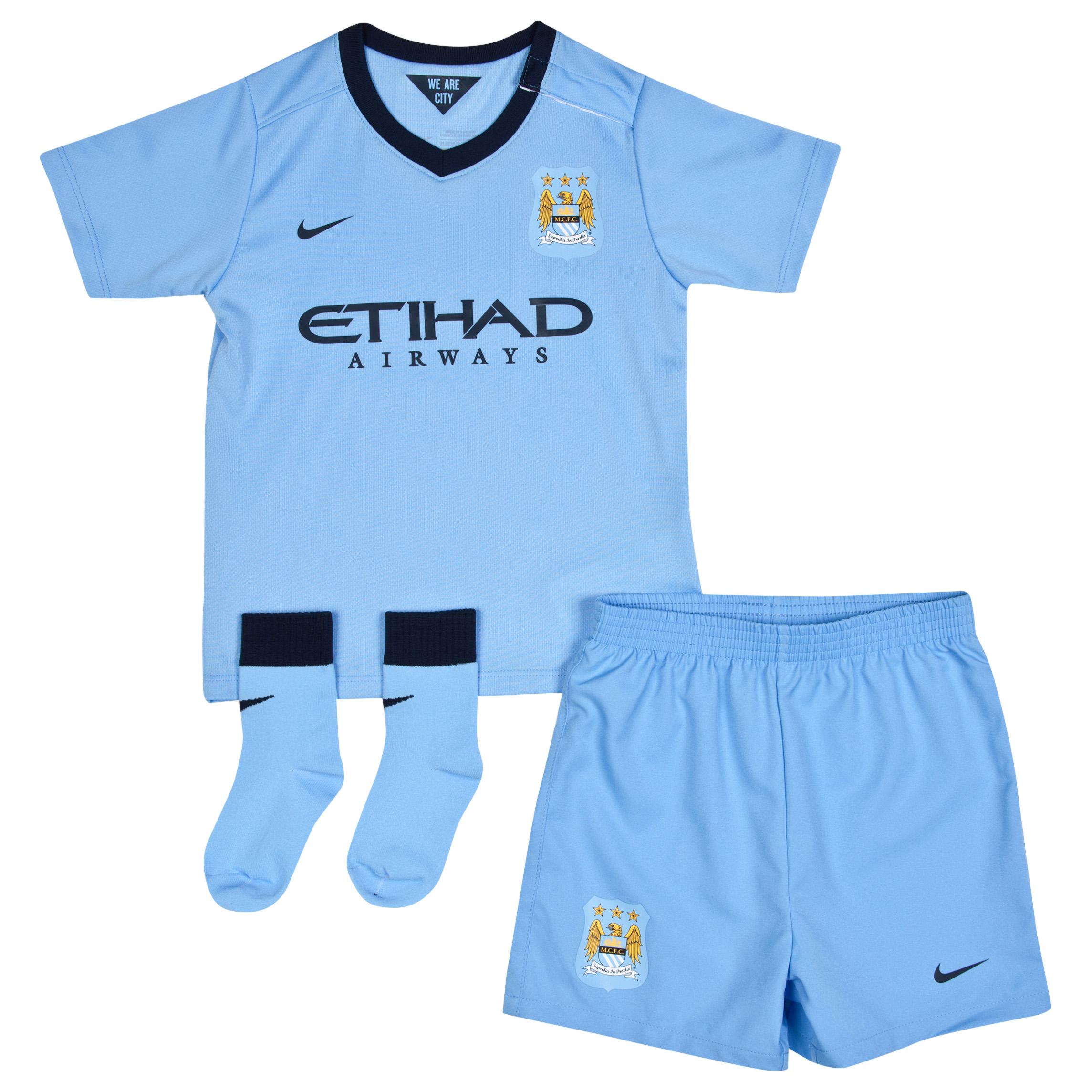 Manchester City Home Kit 2014/15 - Infants Sky Blue