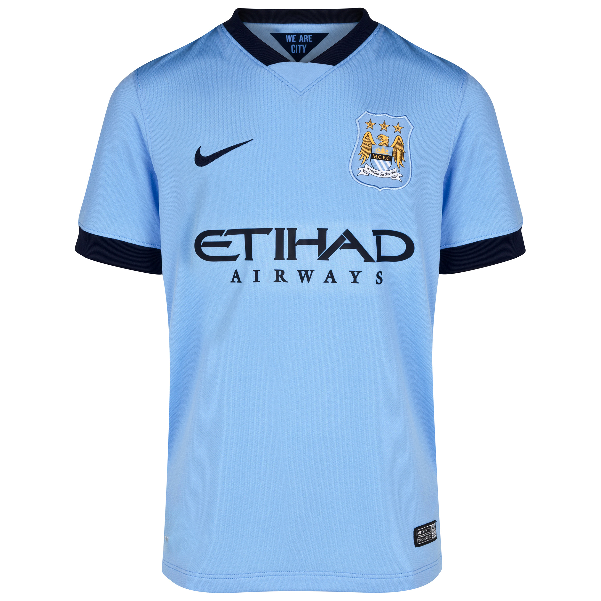 Manchester City Home Shirt 2014/15 - Kids Sky Blue