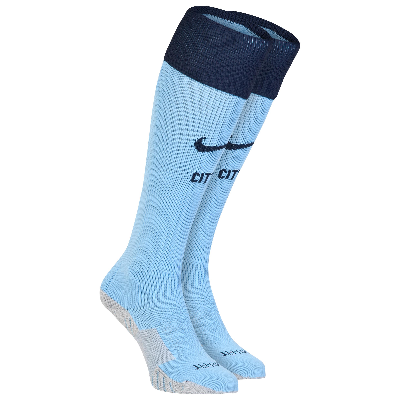 Manchester City Home Socks 2014/15 Sky Blue