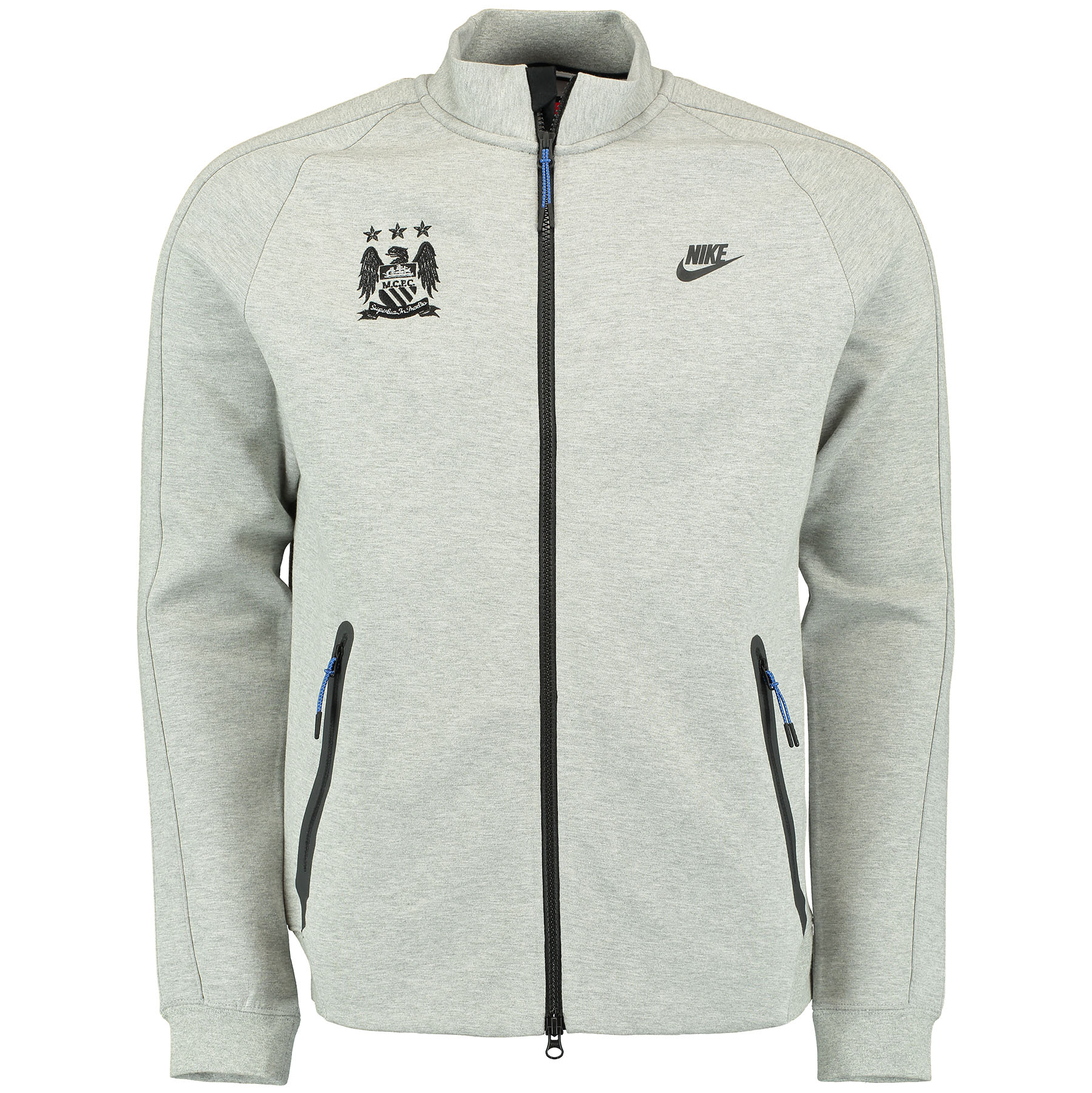 Manchester City N98 Tech Fleece Track Jacket Dk Grey