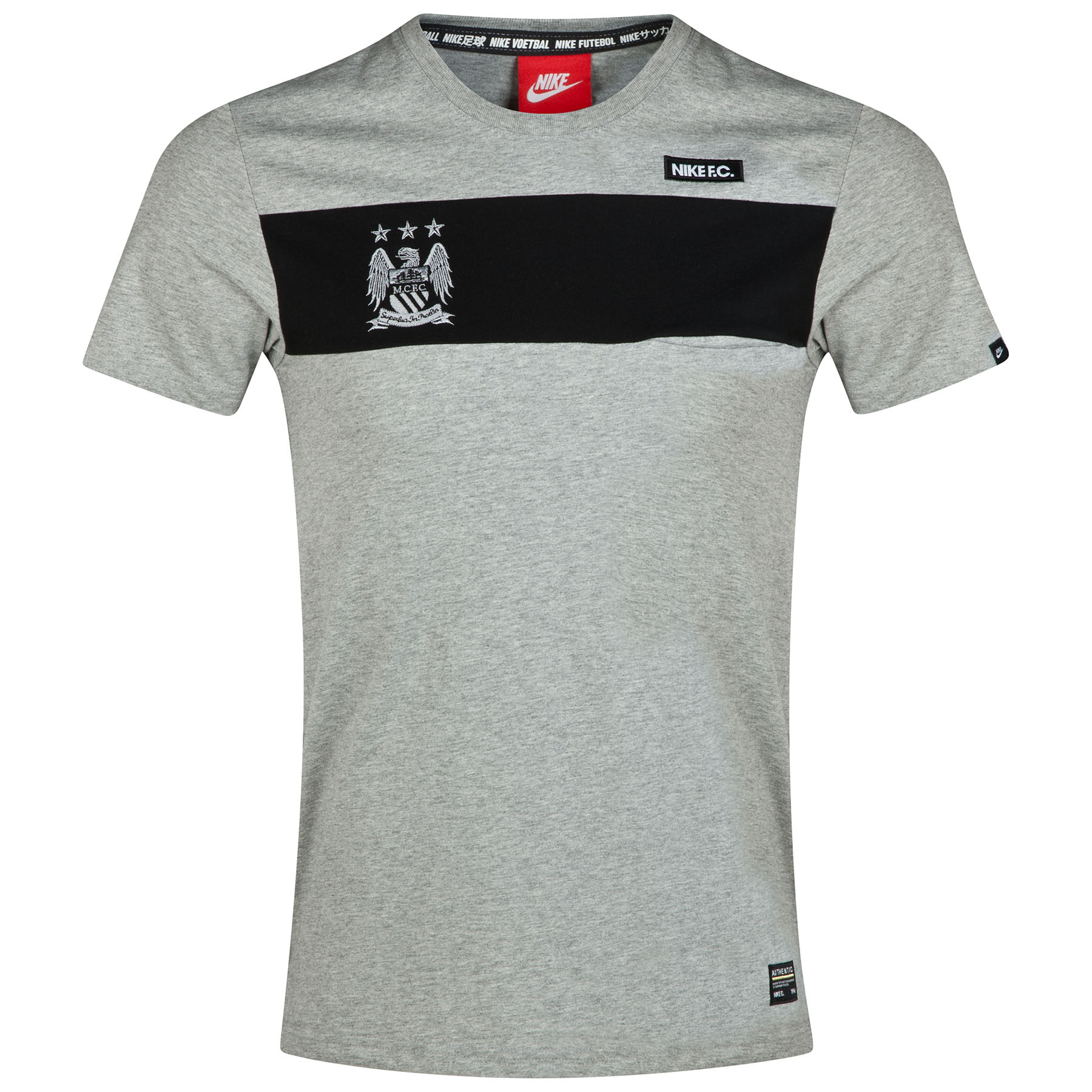Manchester City GF Pocket T-Shirt Dk Grey