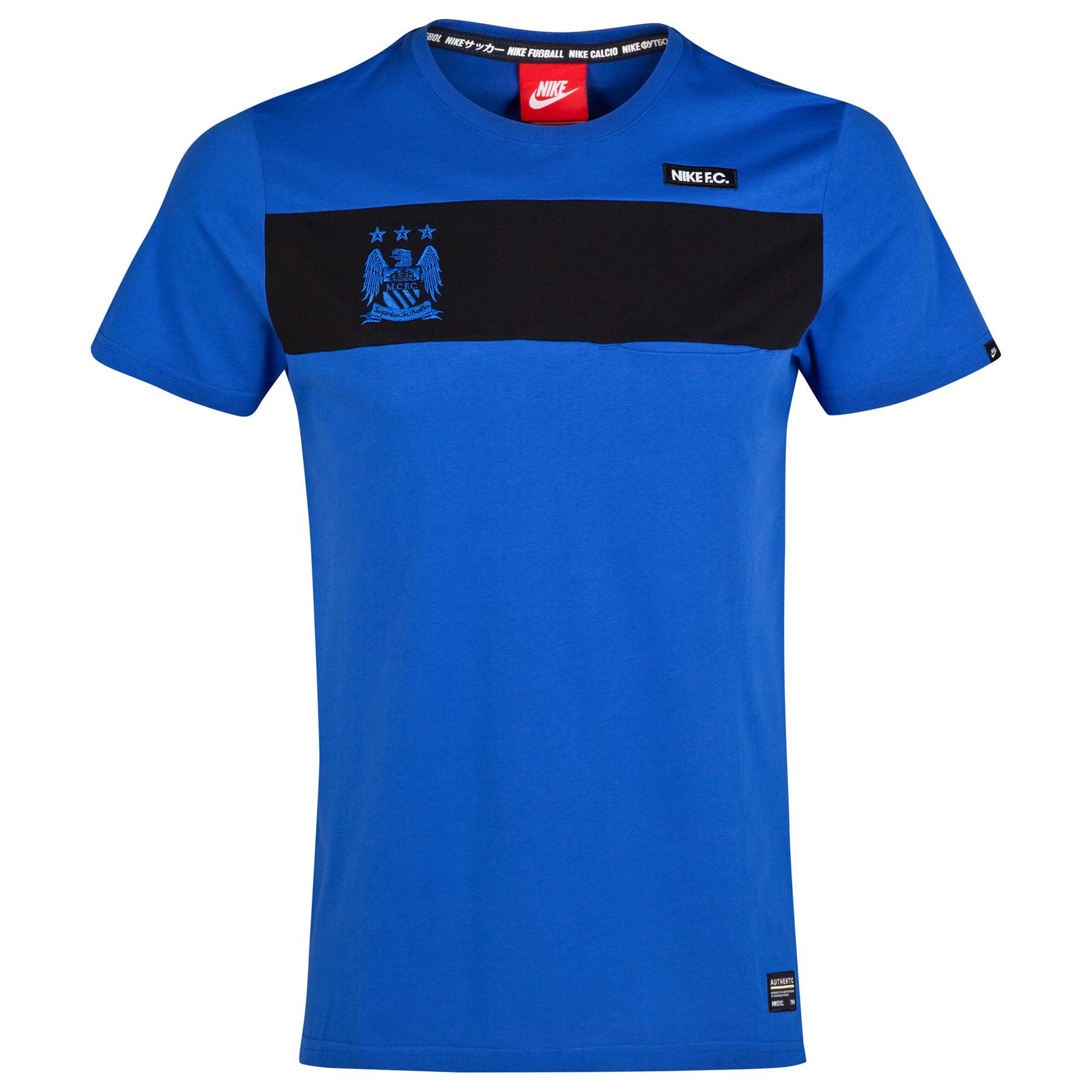 Manchester City GF Pocket T-Shirt Royal Blue