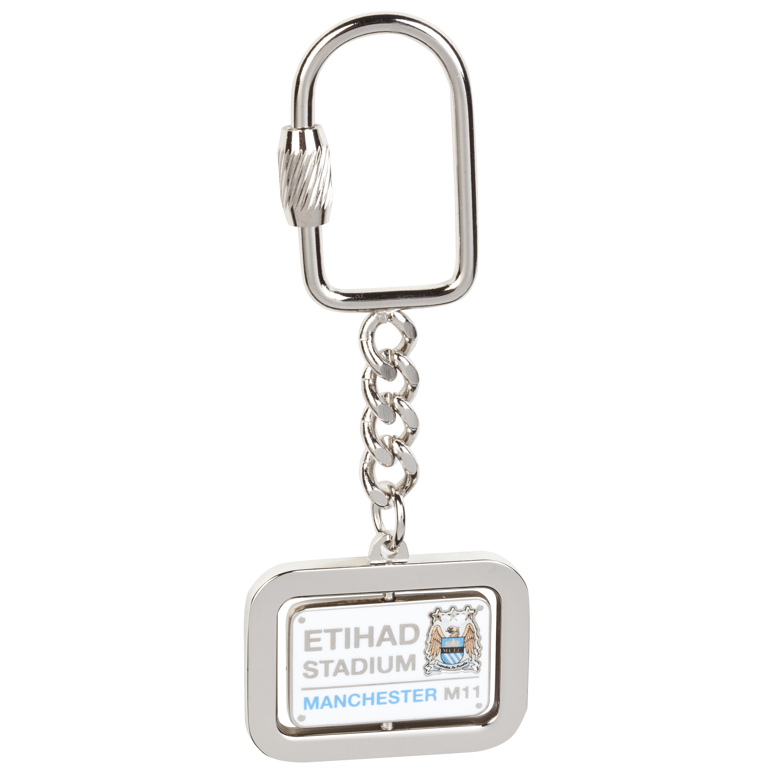 Manchester City Street Sign Spinner Keyring